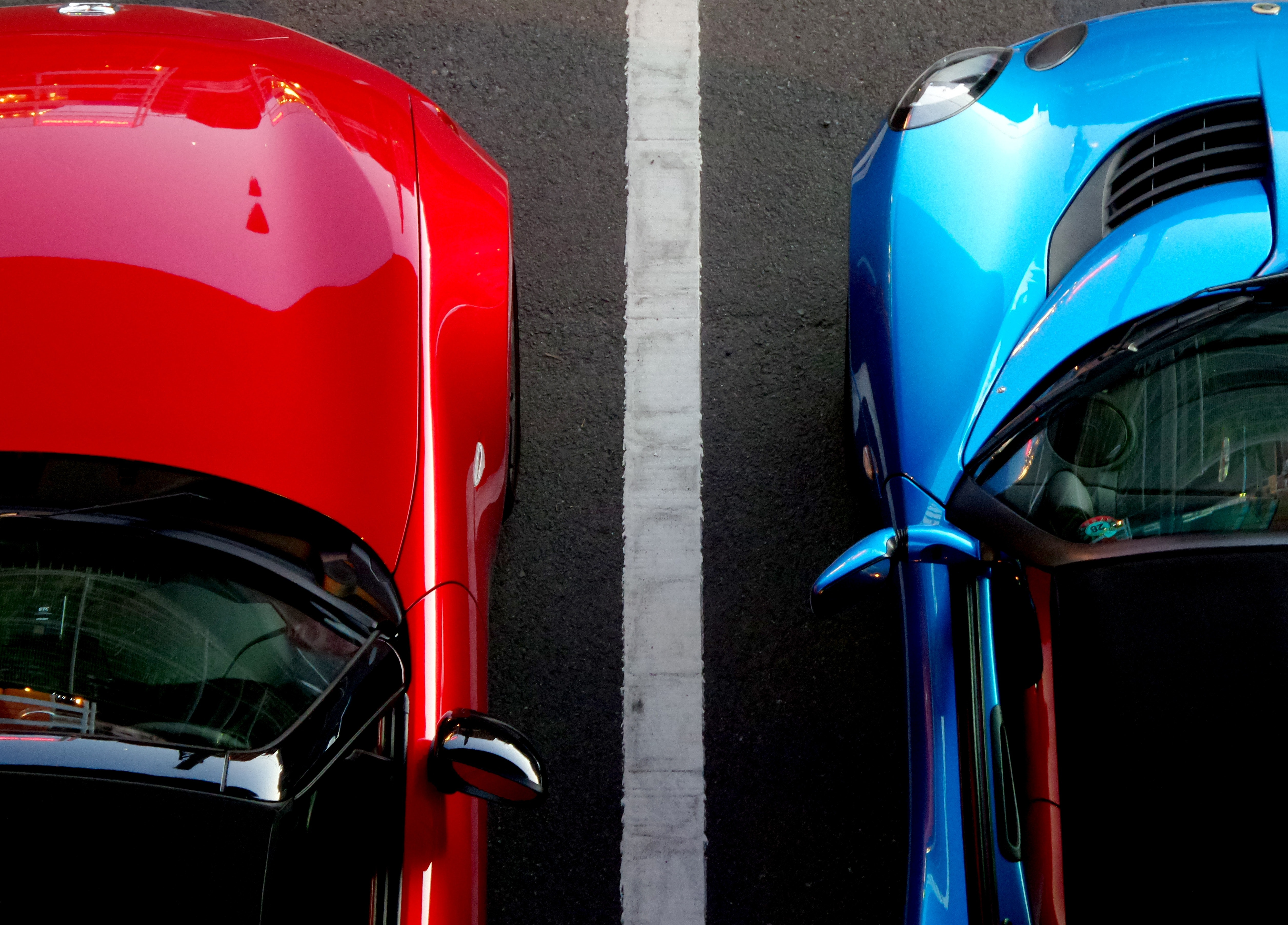 Close-up view of cars photo