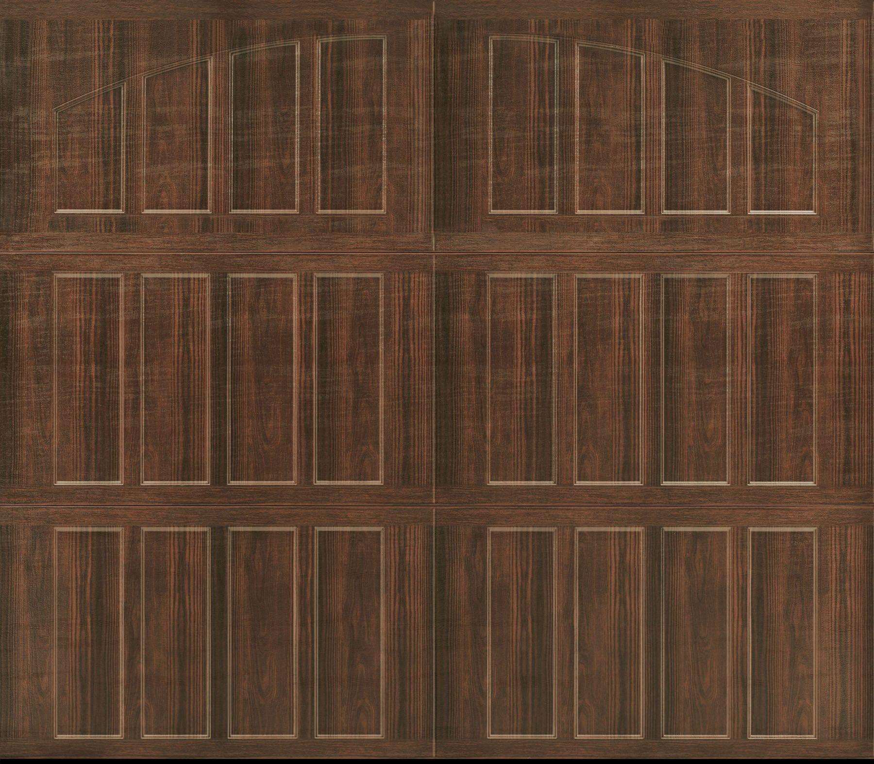 Garage Door- Amarr, Northampton Closed Arch, Walnut Wood Grain ...