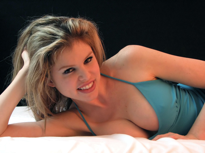 Closeup of a beautiful woman posing photo