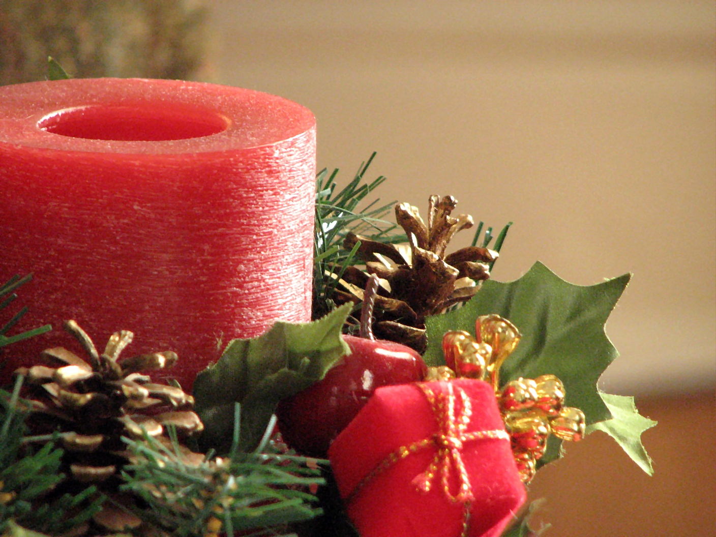 Closeup of a red Christmas candle, Candles, Christmas, Events, Gifts, HQ Photo