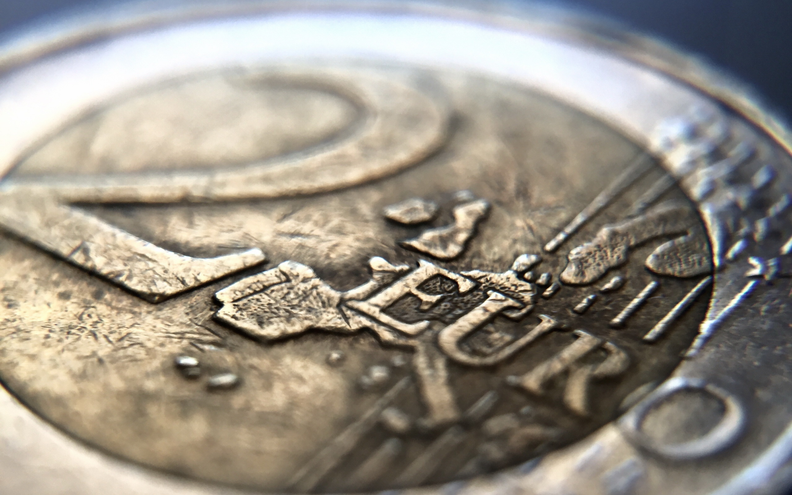 Wallpaper Euro Coins 2 Macro Money Closeup 2560x1600