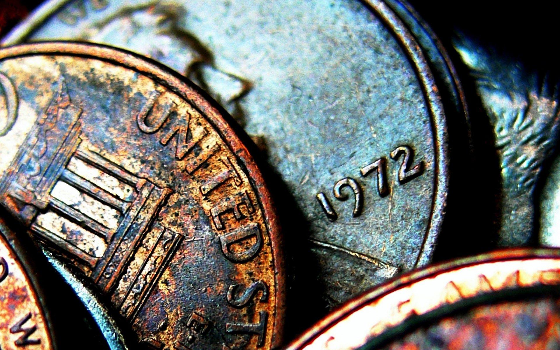 Black Close-up Coins Dark Money - WallDevil