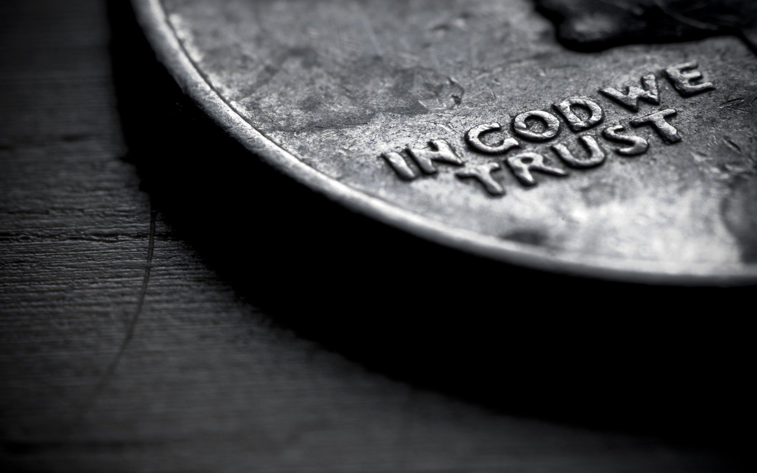 Close-up coins money text God trust wallpaper | 2560x1600 | 258196 ...