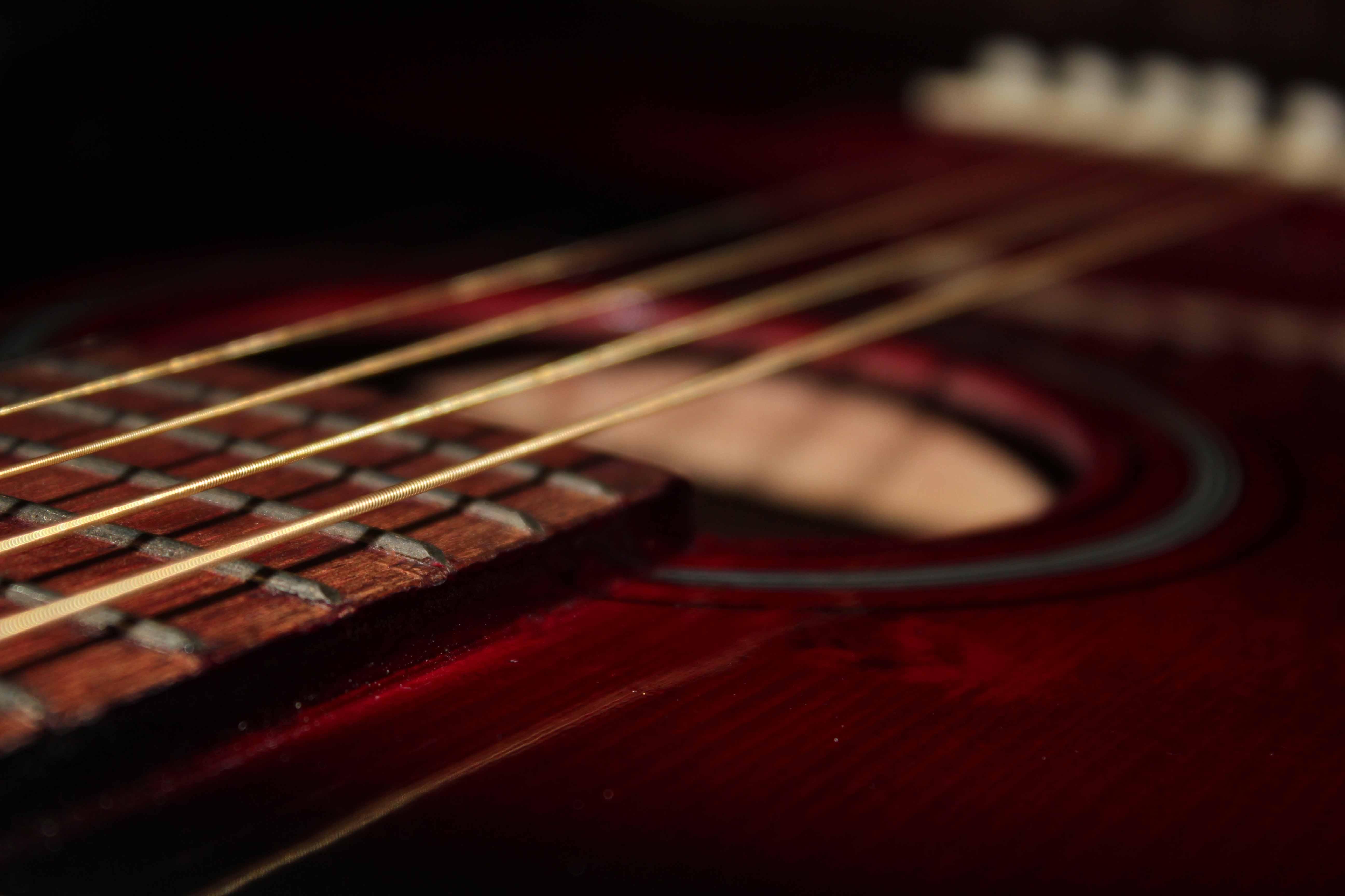 Guitar close up photo