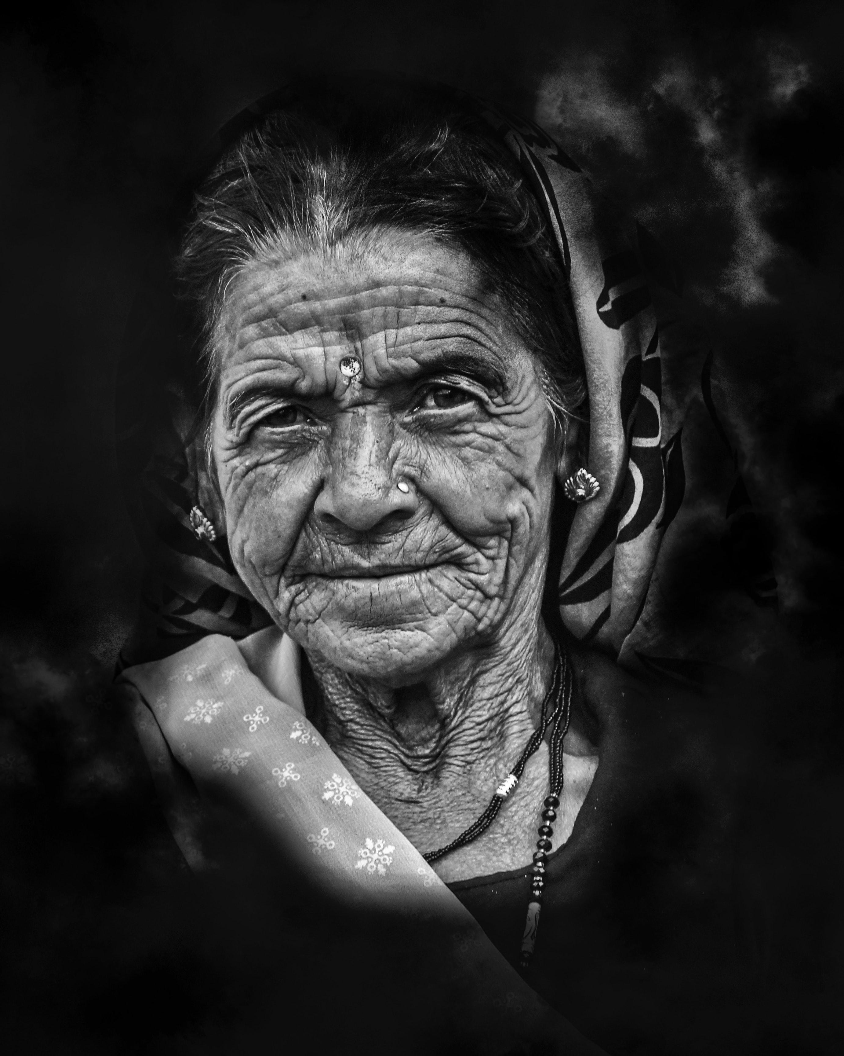 Closeup Photo of Woman Portrait, Accessories, Indian portrait, Woman, Wear, HQ Photo