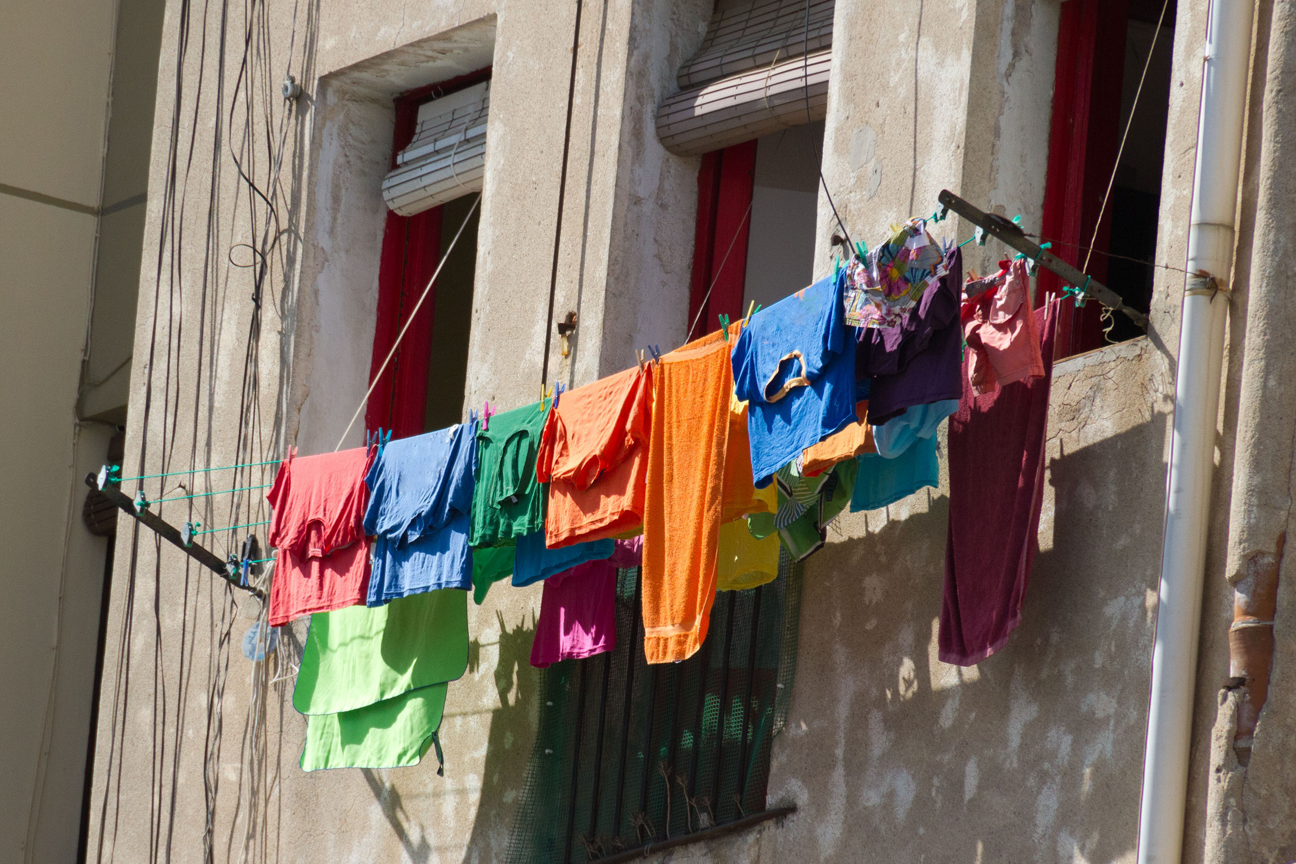 Clothesline, Real, Laundry, Life, Lifestyles, HQ Photo