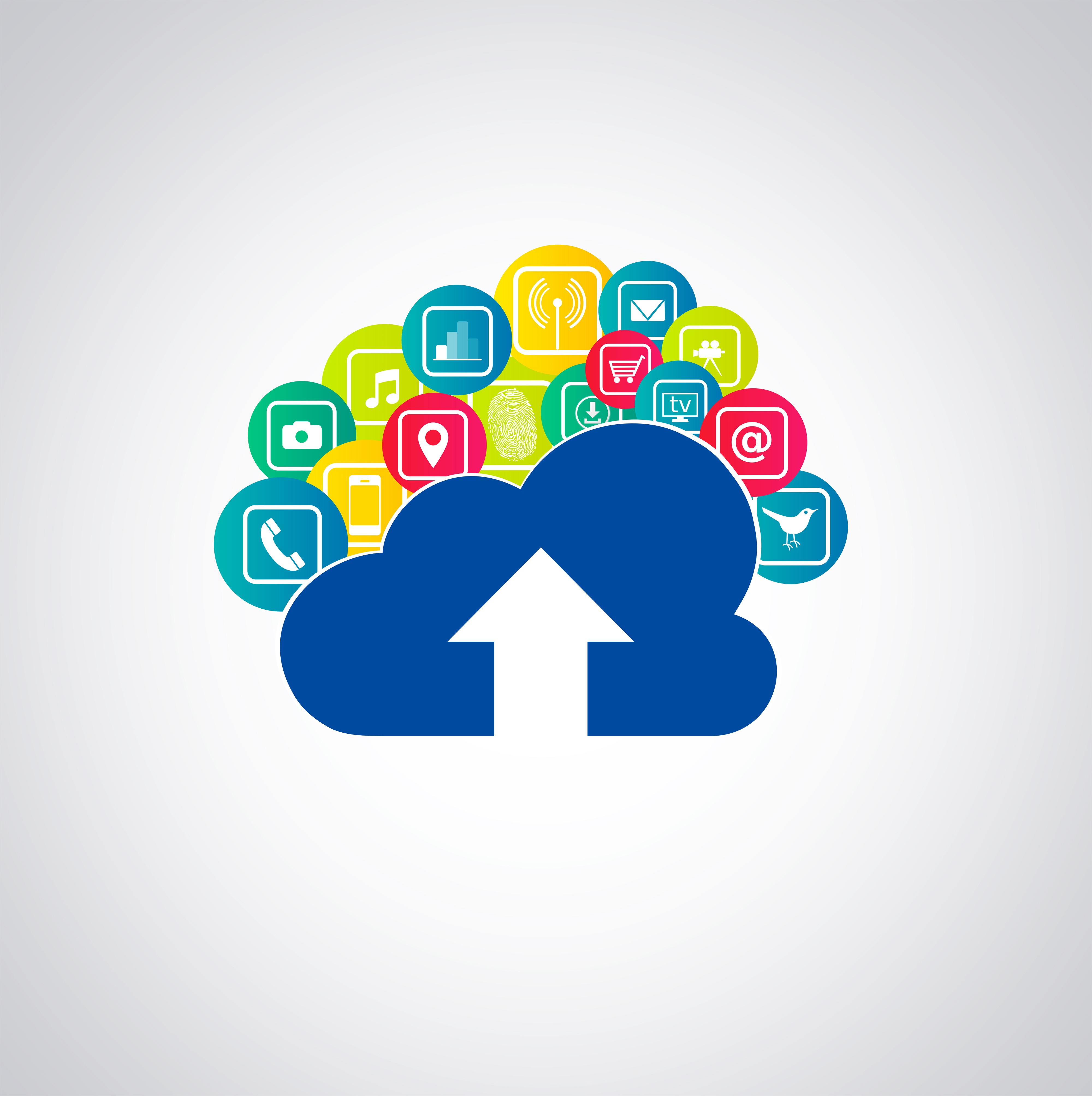 Cloud-based apps illustration photo