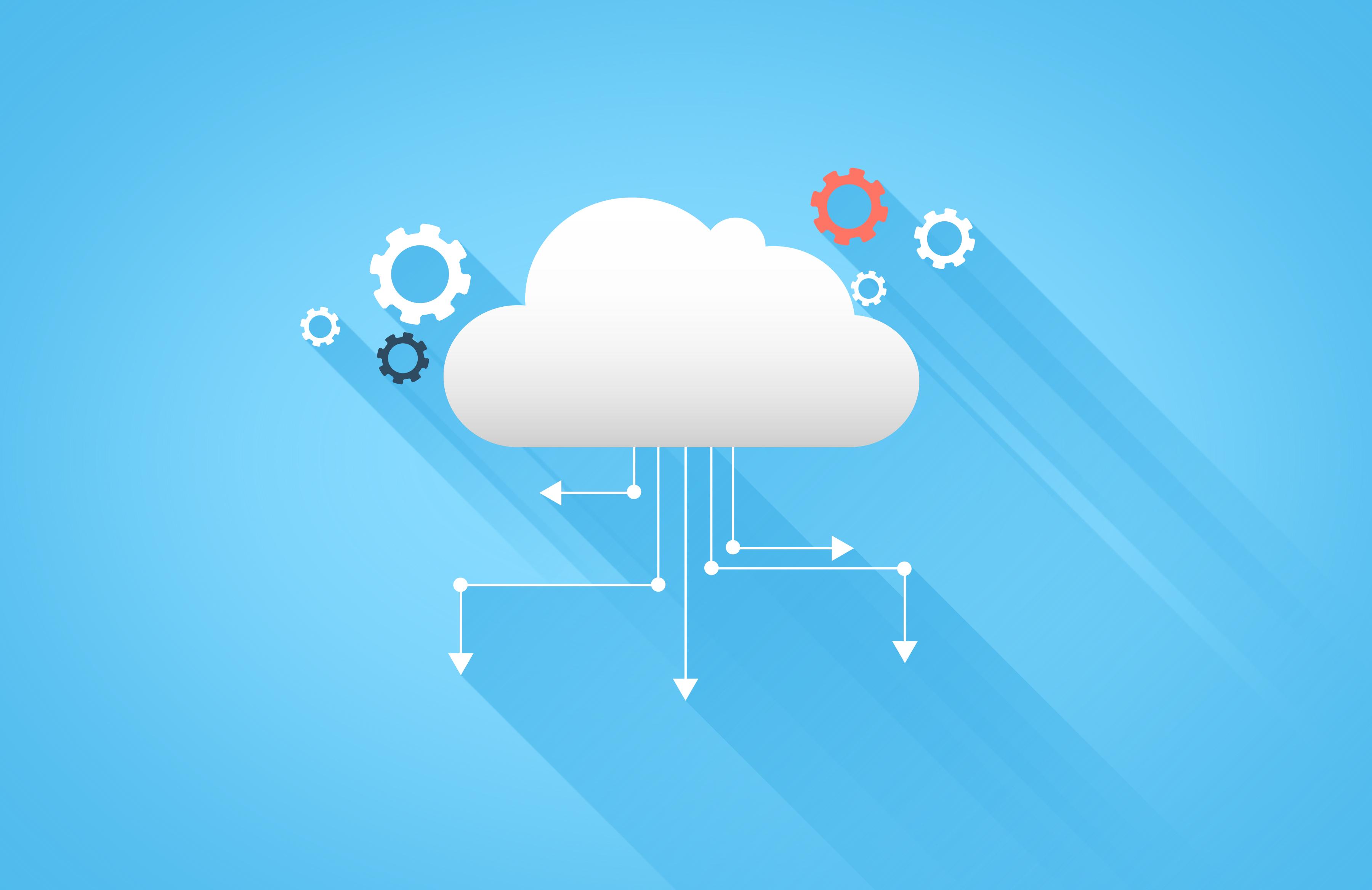 Cloud computing and cloud technology photo