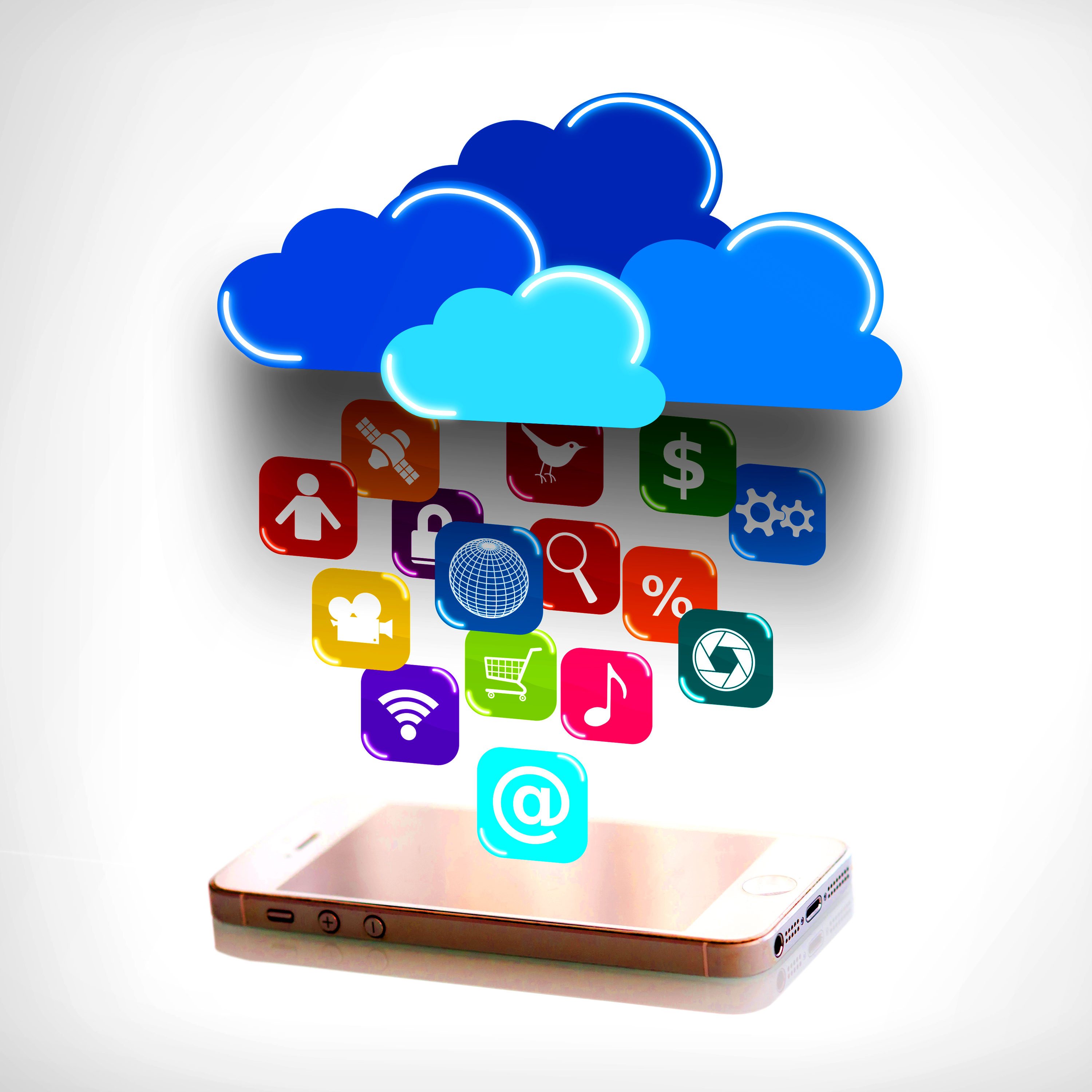 Cloud computing and mobility concept photo