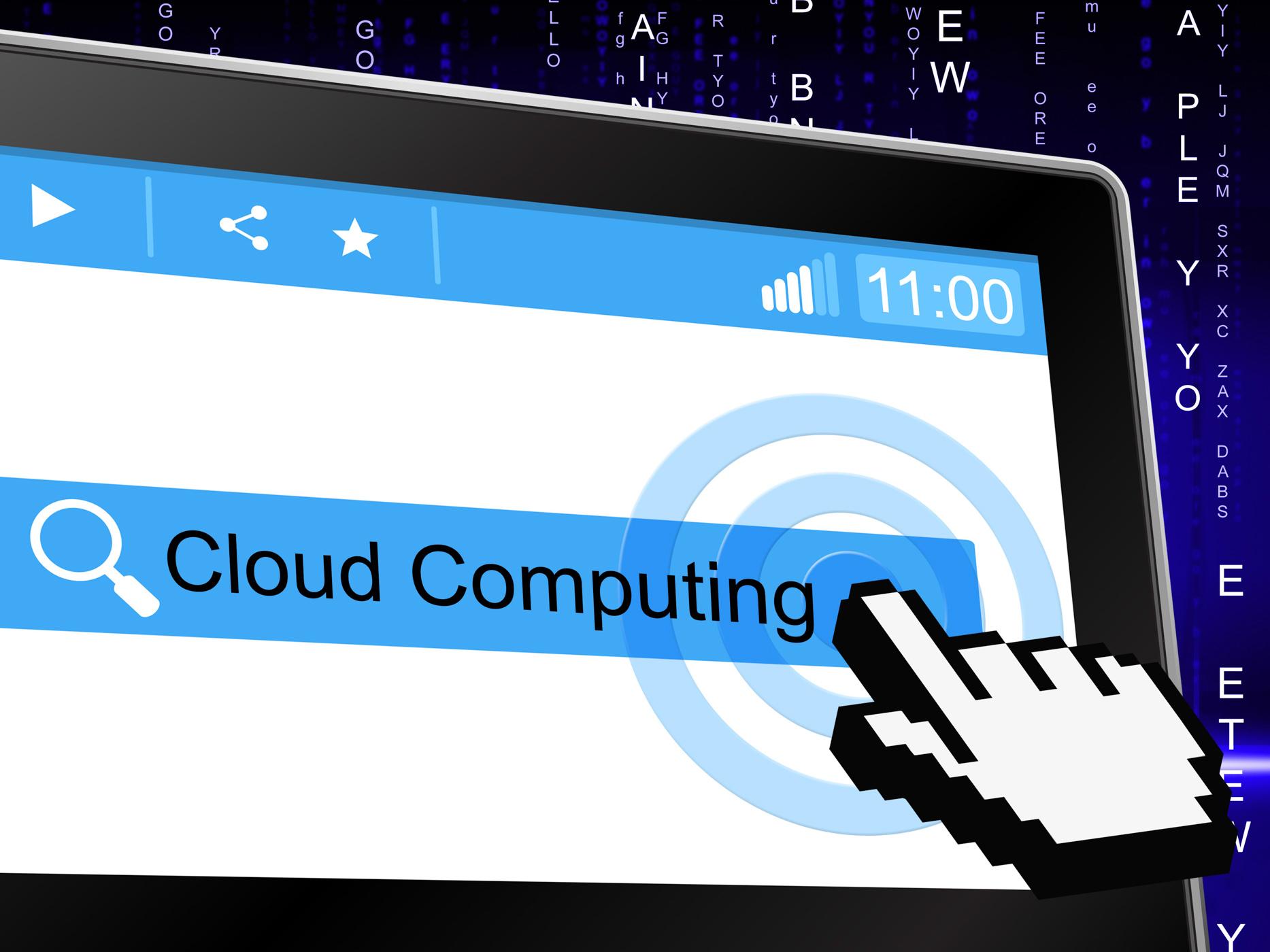 Cloud computing means information technology and cloud-computing photo