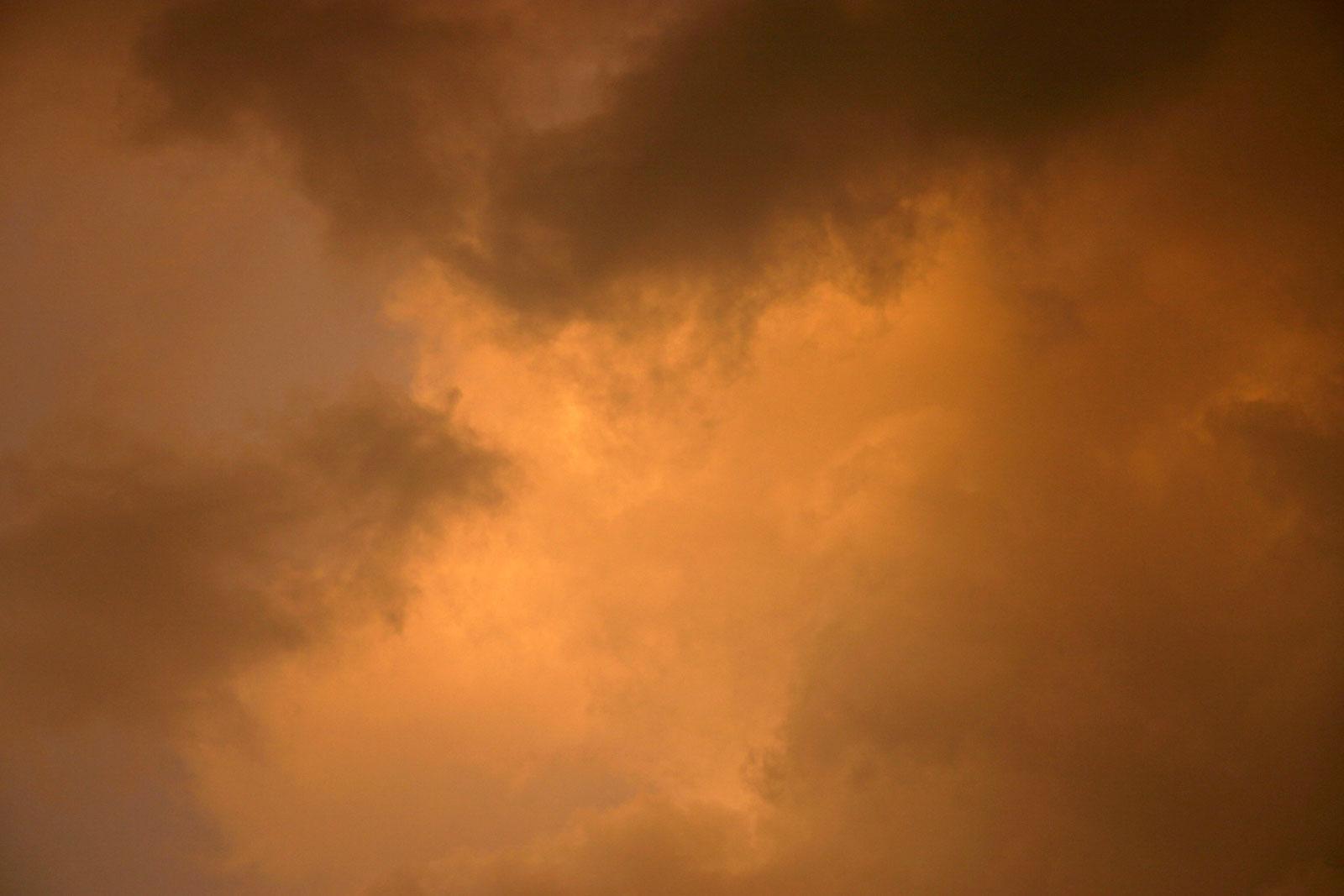 Clouds, Dark, Heaven, Orange, Puffy, HQ Photo