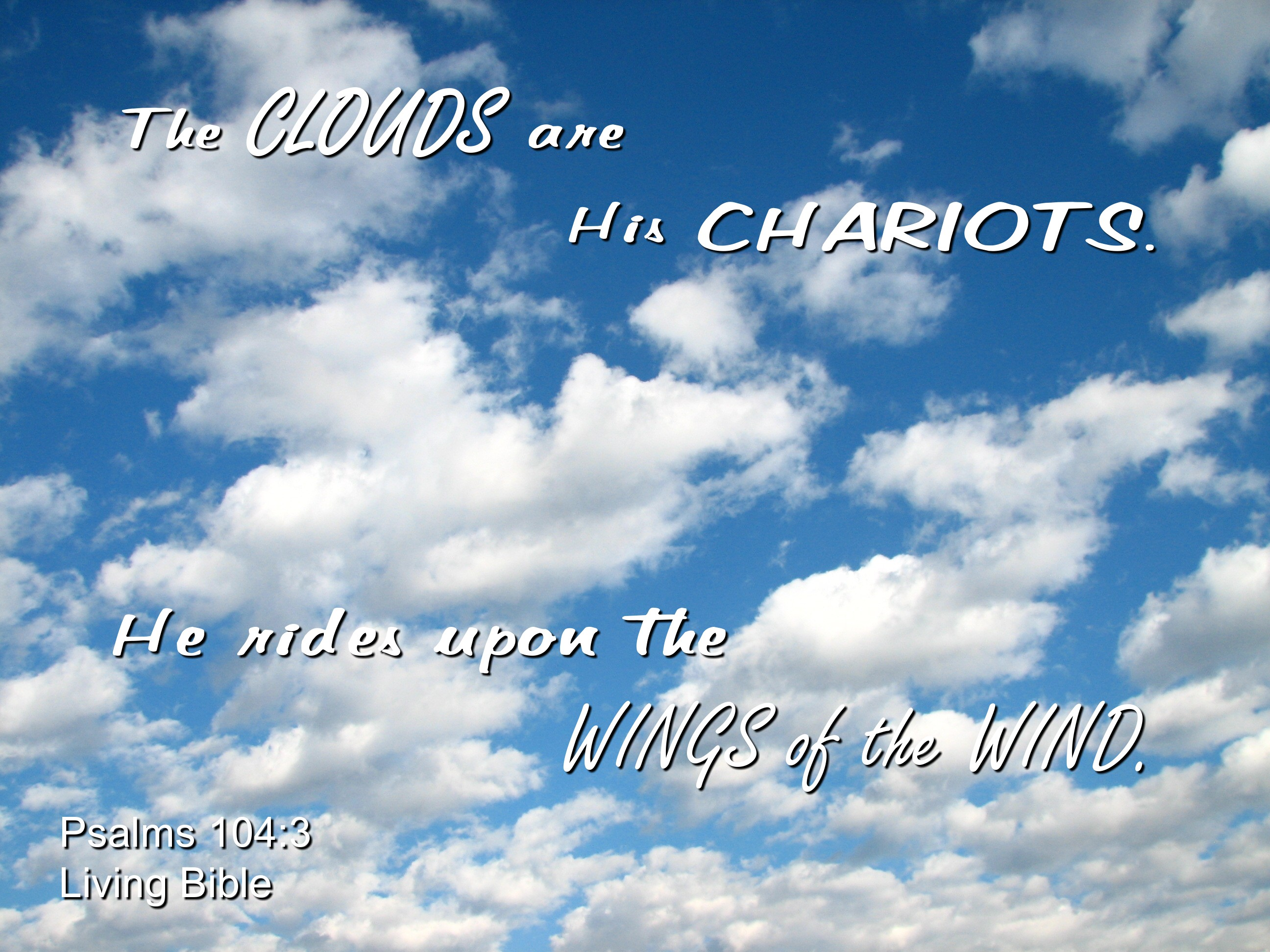 Clouds are his chariots photo