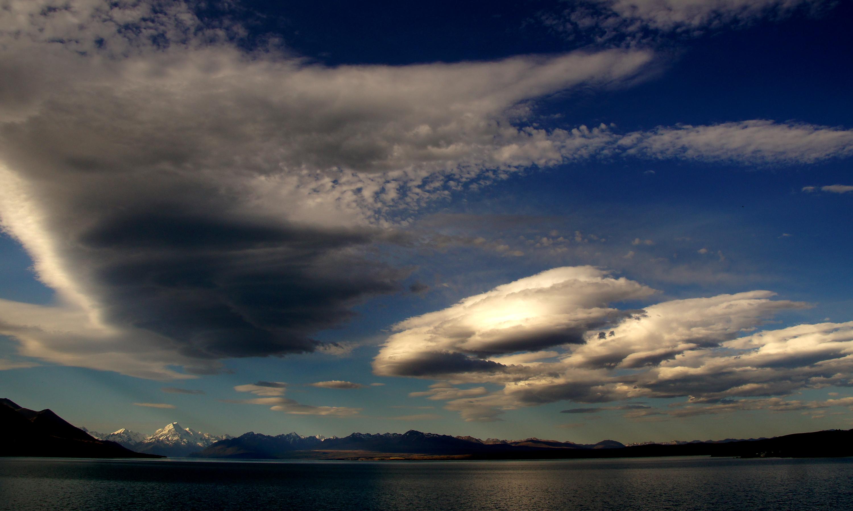 Clouds over Mt Cook. NZ, Aoraki, Cloud, Clouds, Free photos, HQ Photo