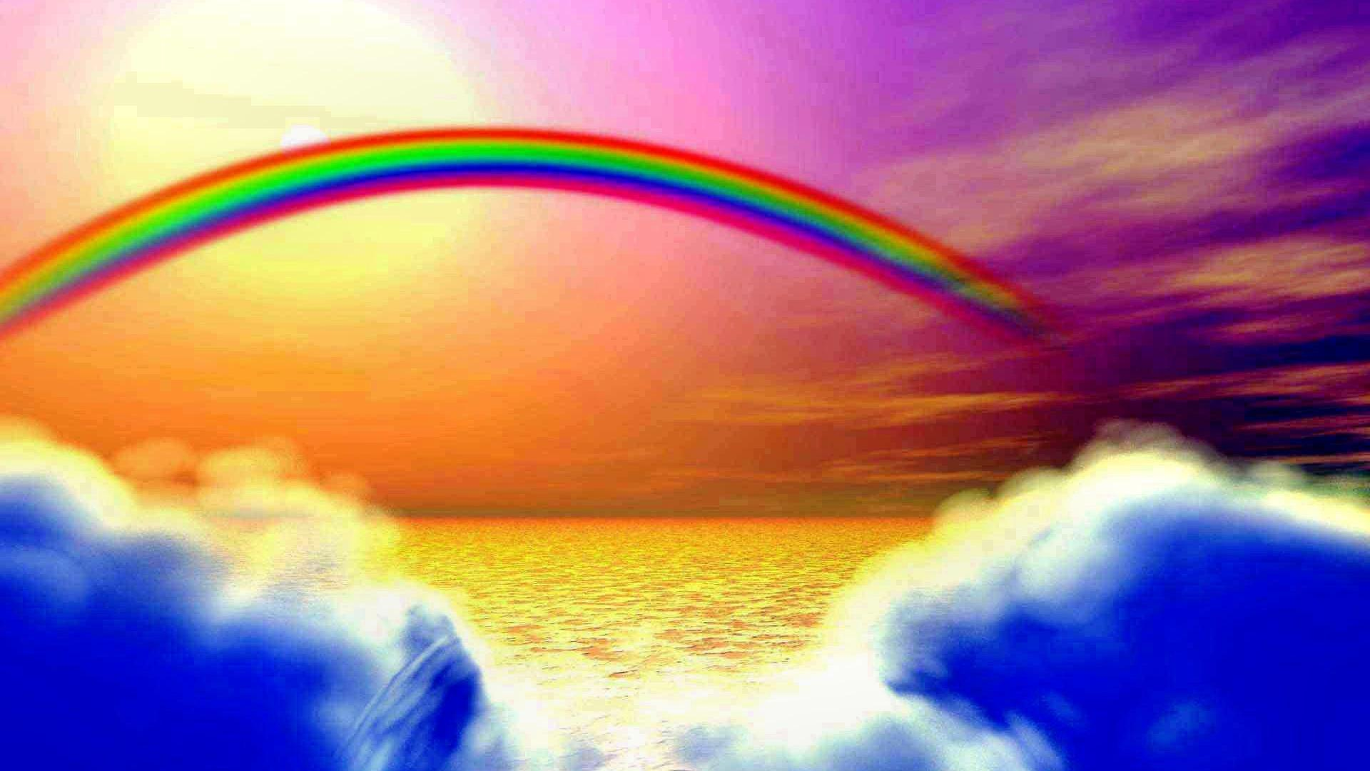 Rainbow clouds wallpaper | (132277)