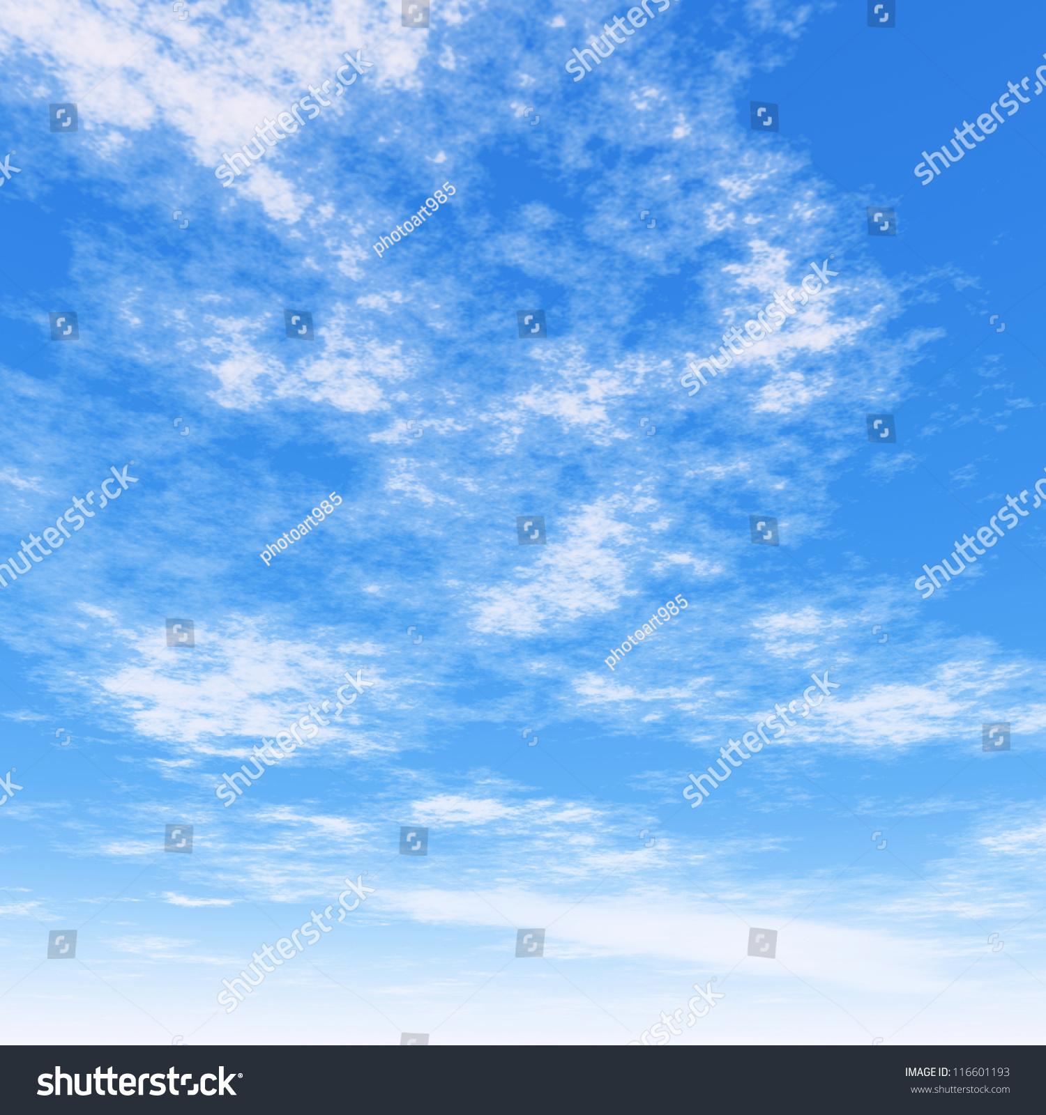 Cloudy Blue Sky Stock Illustration 116601193 - Shutterstock