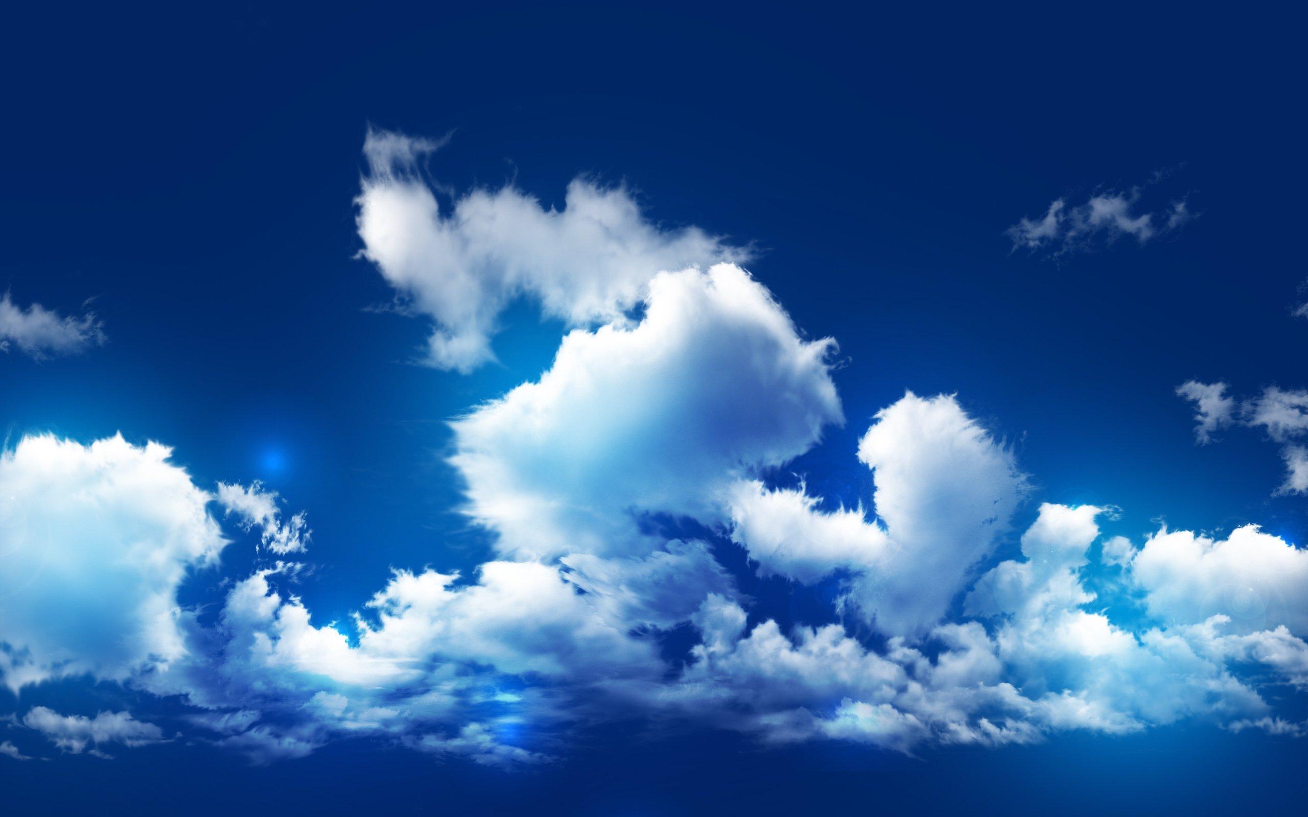 Blue Cloudy Sky - WallDevil