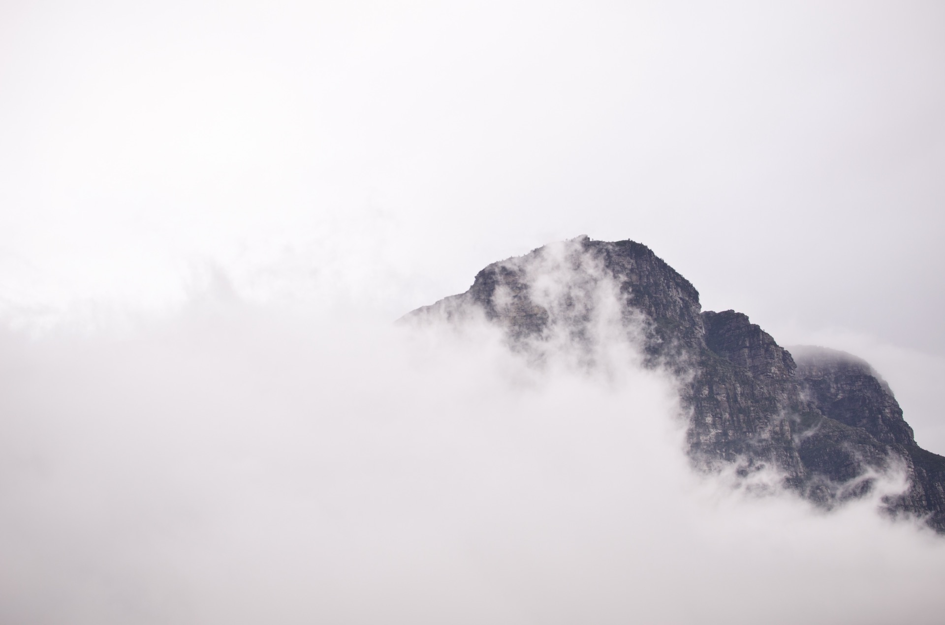 Cloudy mountain photo