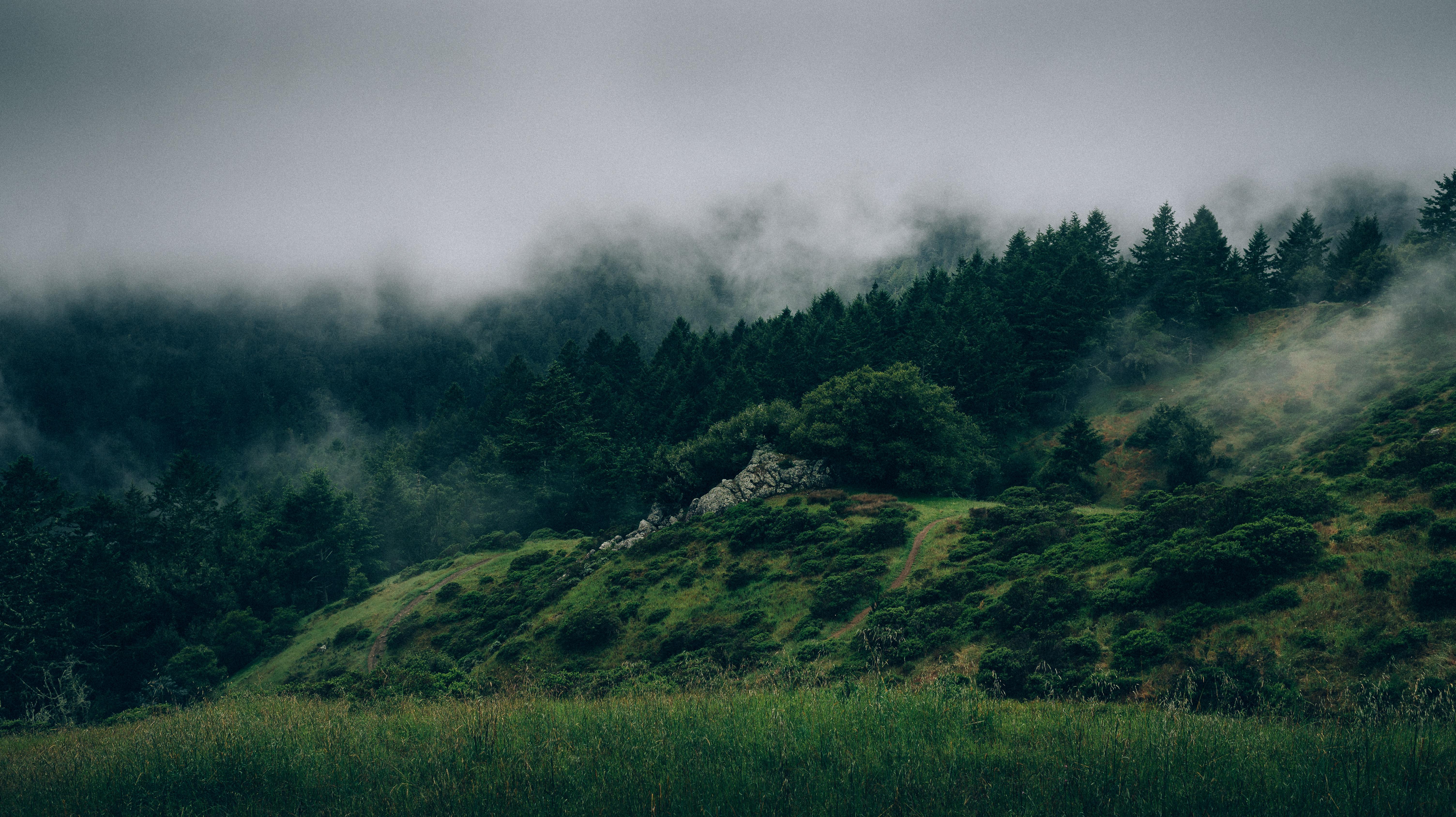 Cloudy Mountain Wallpaper 4K 5K | HD Wallpaper Background
