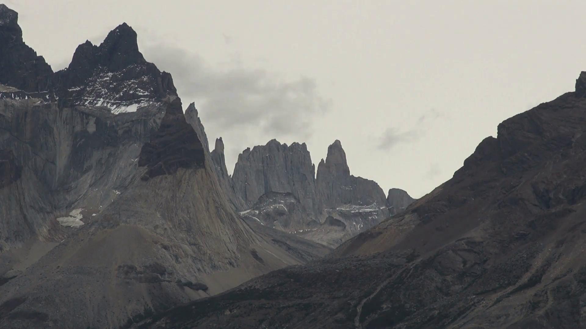 Grey Cloudy Mountain Range Stock Video Footage - Videoblocks