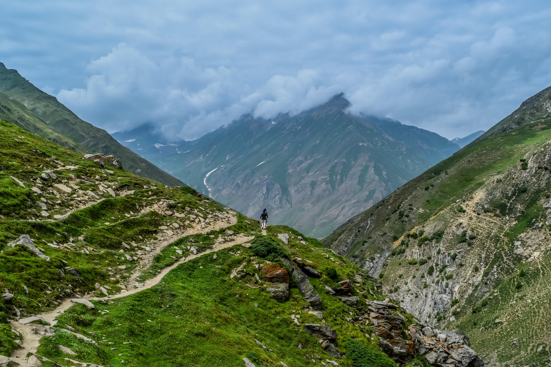 Cloudy Mountain, Activity, Cloud, Cloudy, Green, HQ Photo