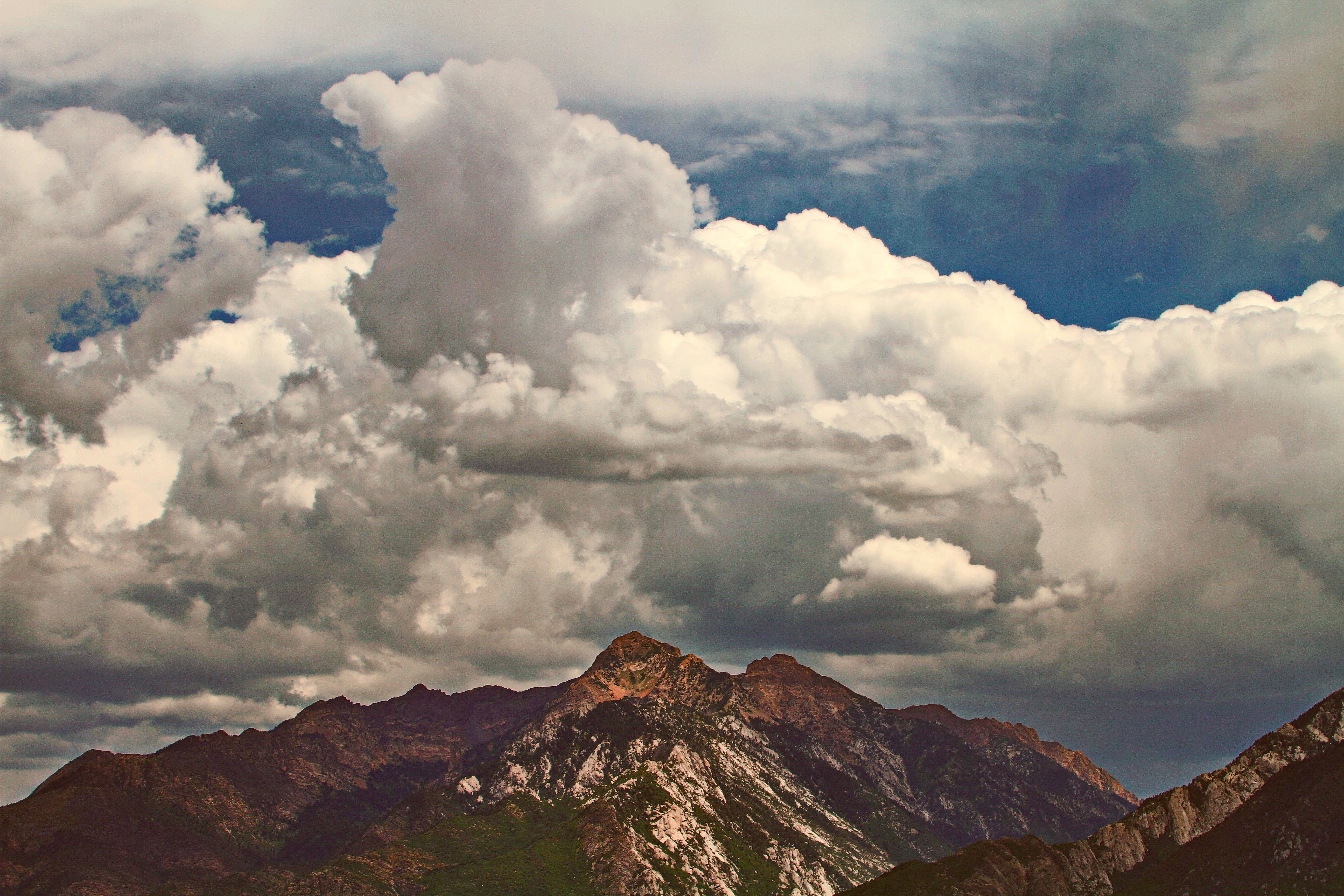 Cloudy Mountain Top in the South Salt Lake Valley: Four Views Using ...
