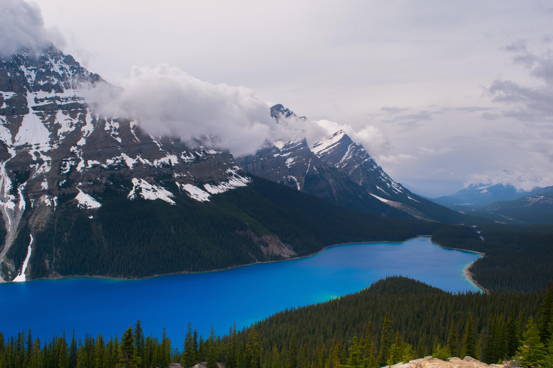 Cloudy mountains photo