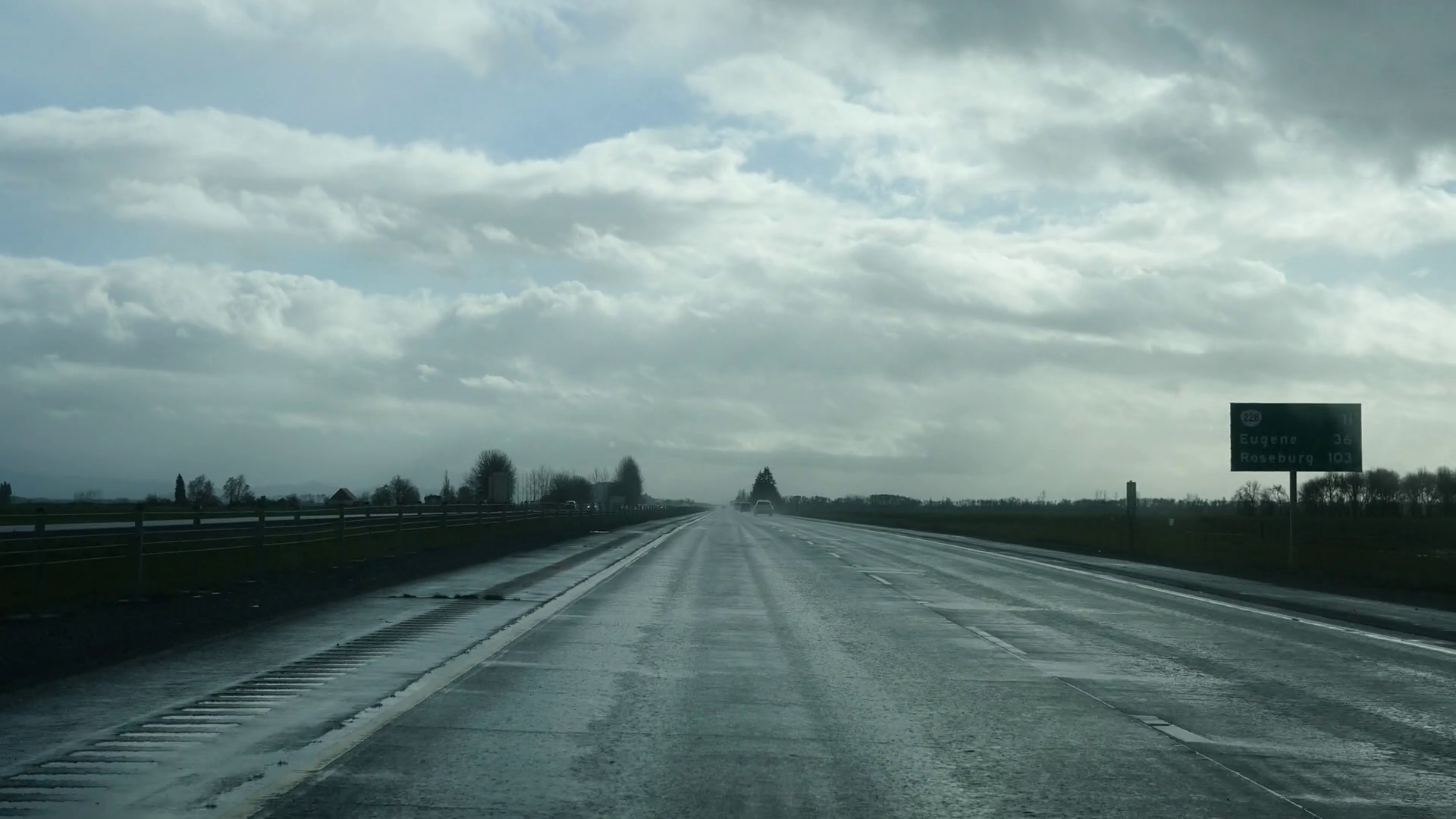 Oregon Highway In Cloudy Weather Stock Video Footage - VideoBlocks