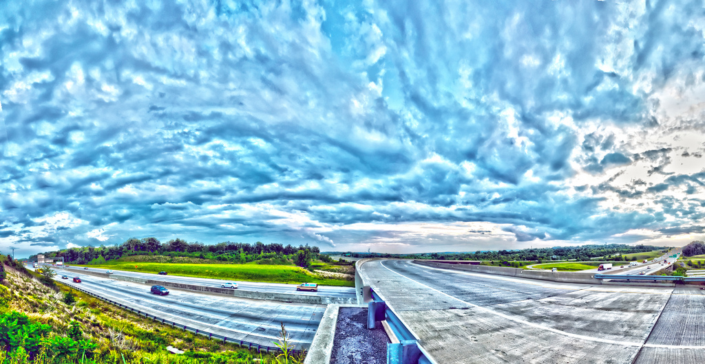 Cloudy on highway, Asphalt, Sunny, Russia, Scene, HQ Photo