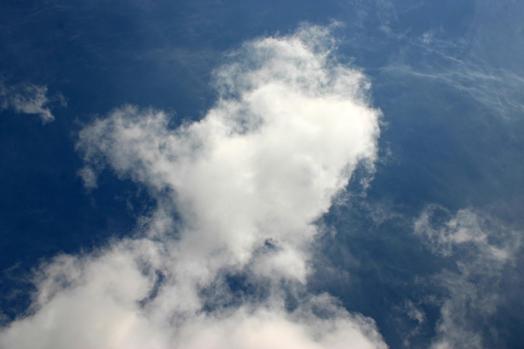 Cloudy sky, Beautiful, Blue, Clouds, Puffy, HQ Photo