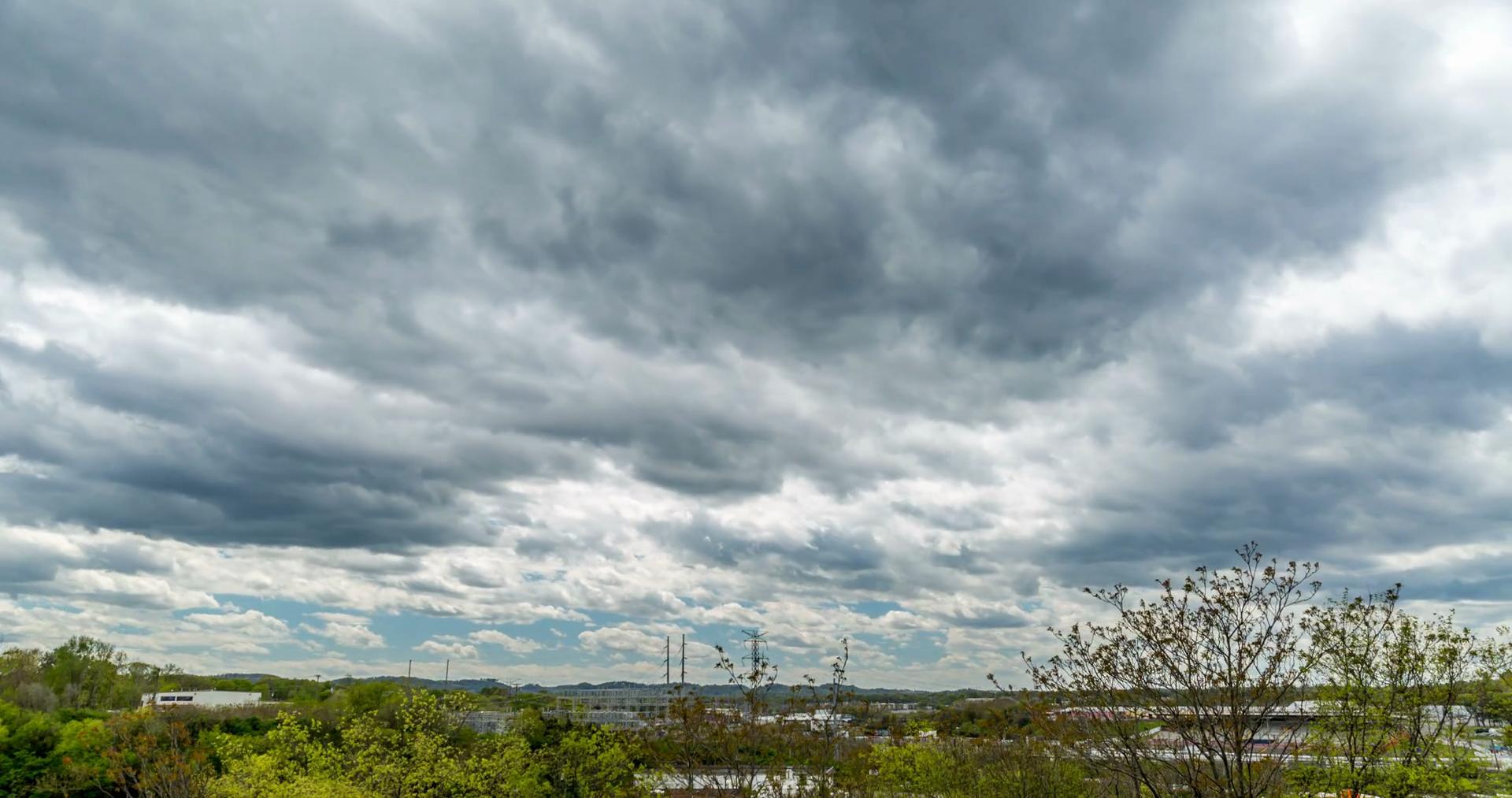 Nashville - Cloudy Sky - Timelapse Stock Video Footage - VideoBlocks
