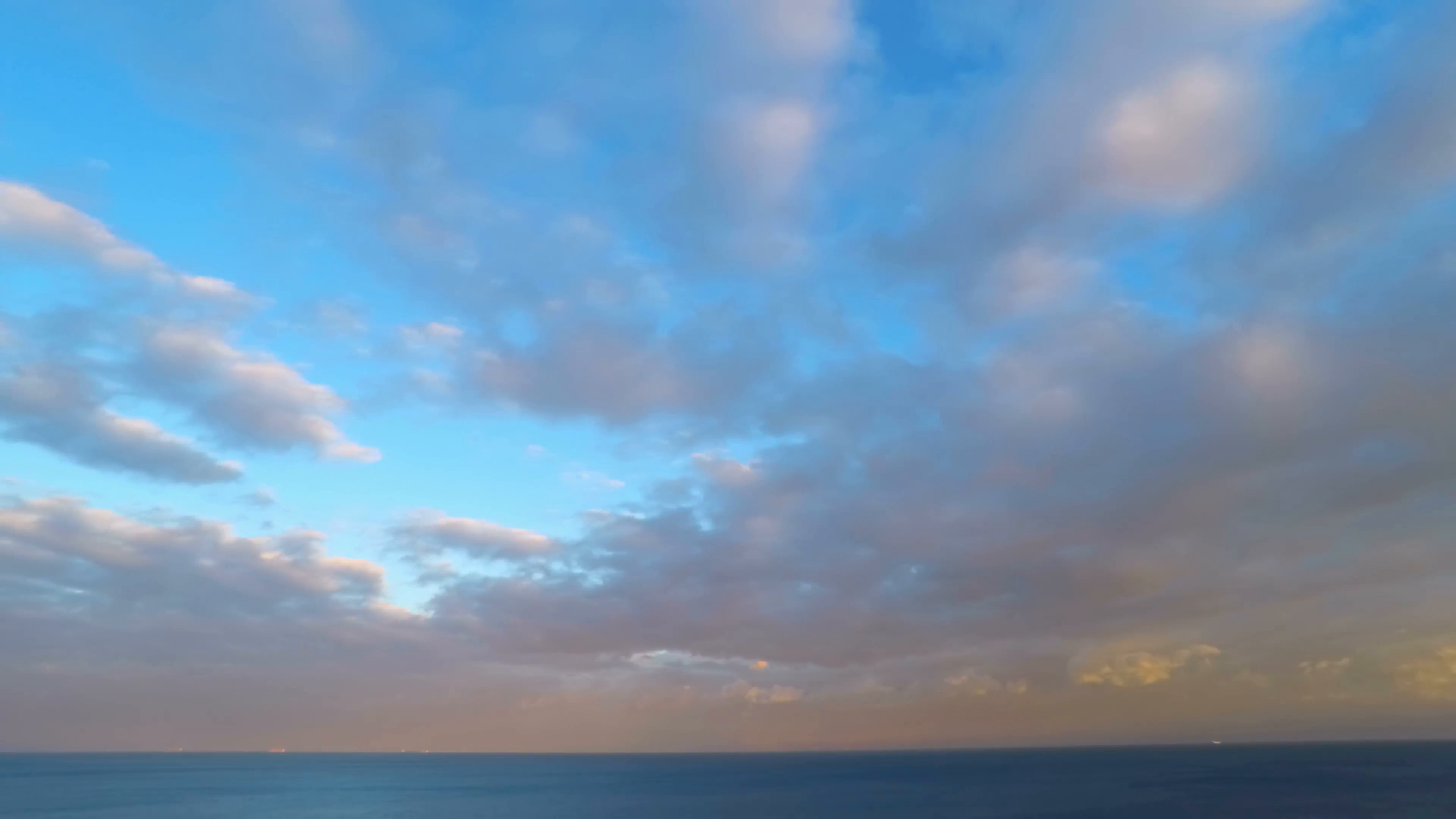 Cloudy Sunset Sky over the Sea. Timelapse. 4K. Stock Video Footage ...