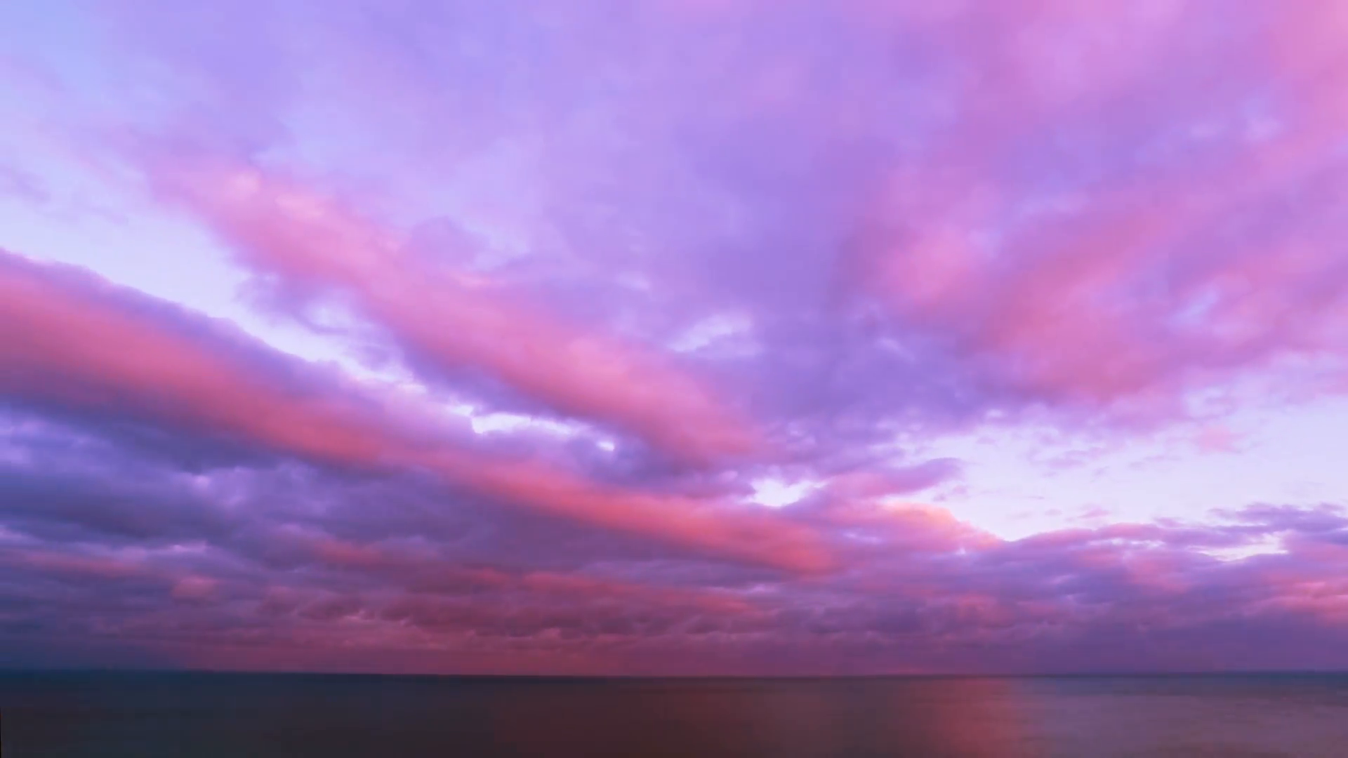 Cloudy Sunset Sky over the Sea. Timelapse. Stock Video Footage ...