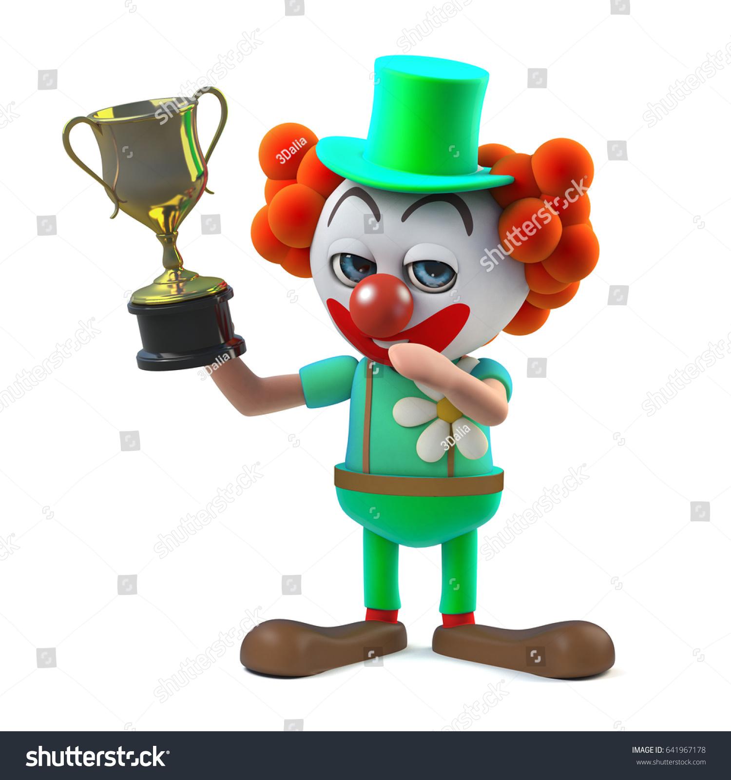 3d Render Funny Cartoon Clown Character Stock Illustration 641967178 ...
