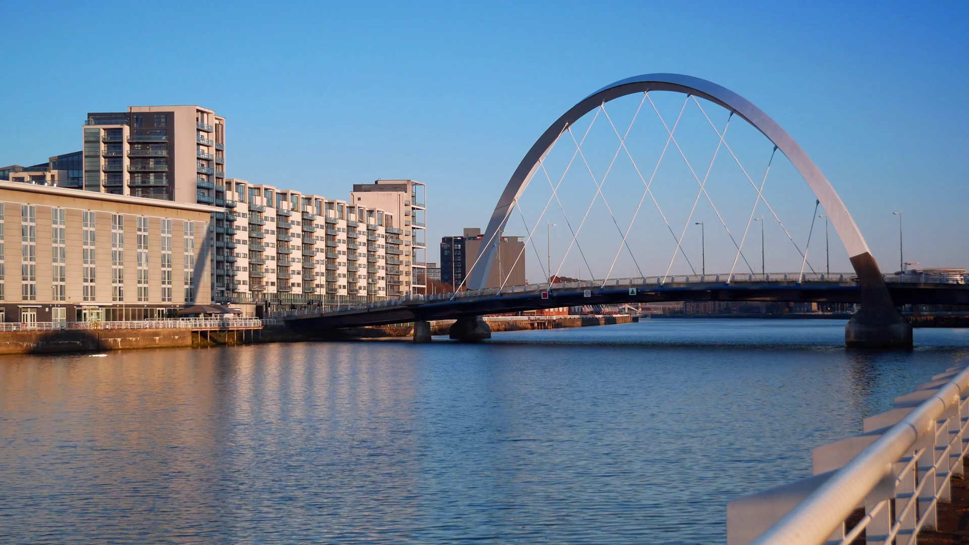Sunset Blue Hour Time Lapse at Clyde Arc Bridge, Glasgow, Scotland ...