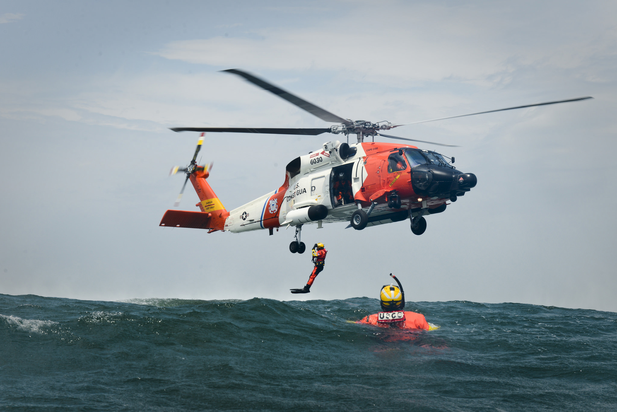 Coast guard helicopter photo