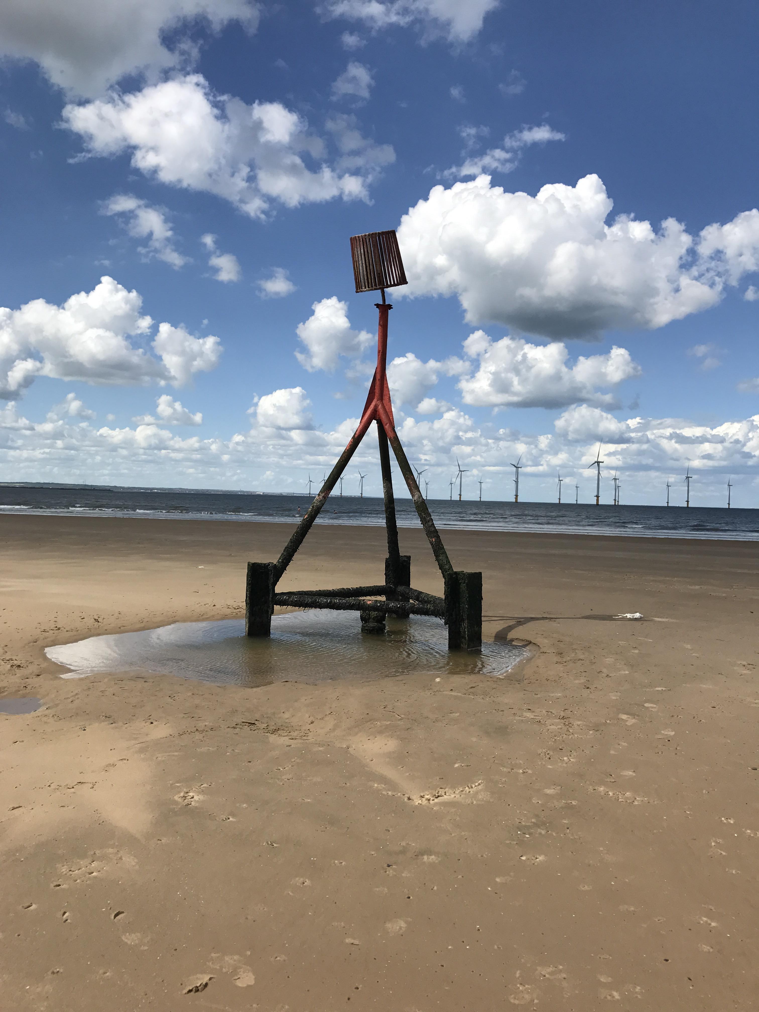 Coastal navigation marker photo