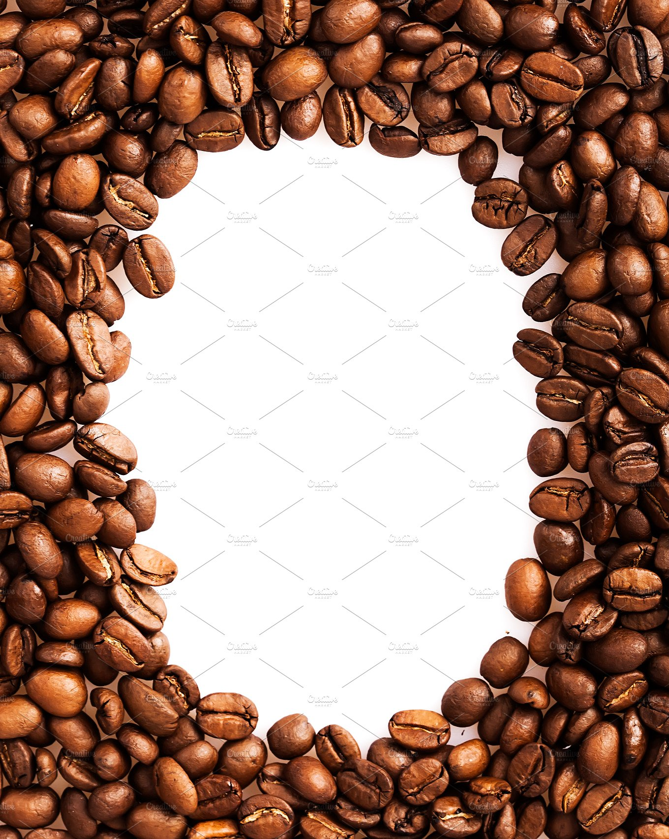Coffee beans frame background ~ Food & Drink Photos ~ Creative Market