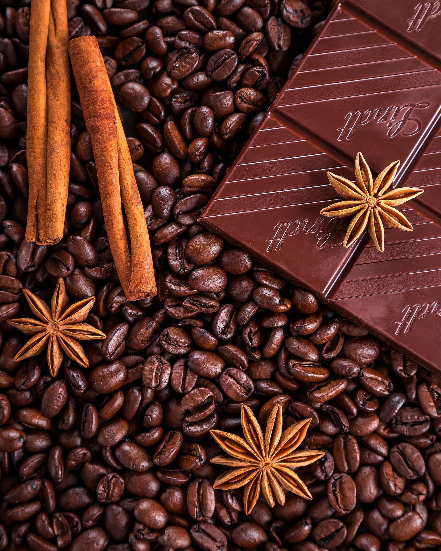 Coffee Beans and Chocolate, Bean, Choc, Chocolate, Coffee, HQ Photo