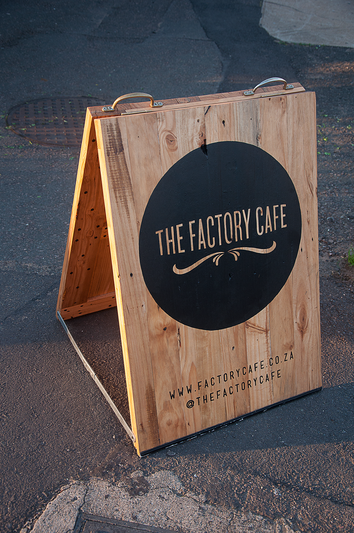 Street signage branding for a local coffee shop where I live. Durban ...