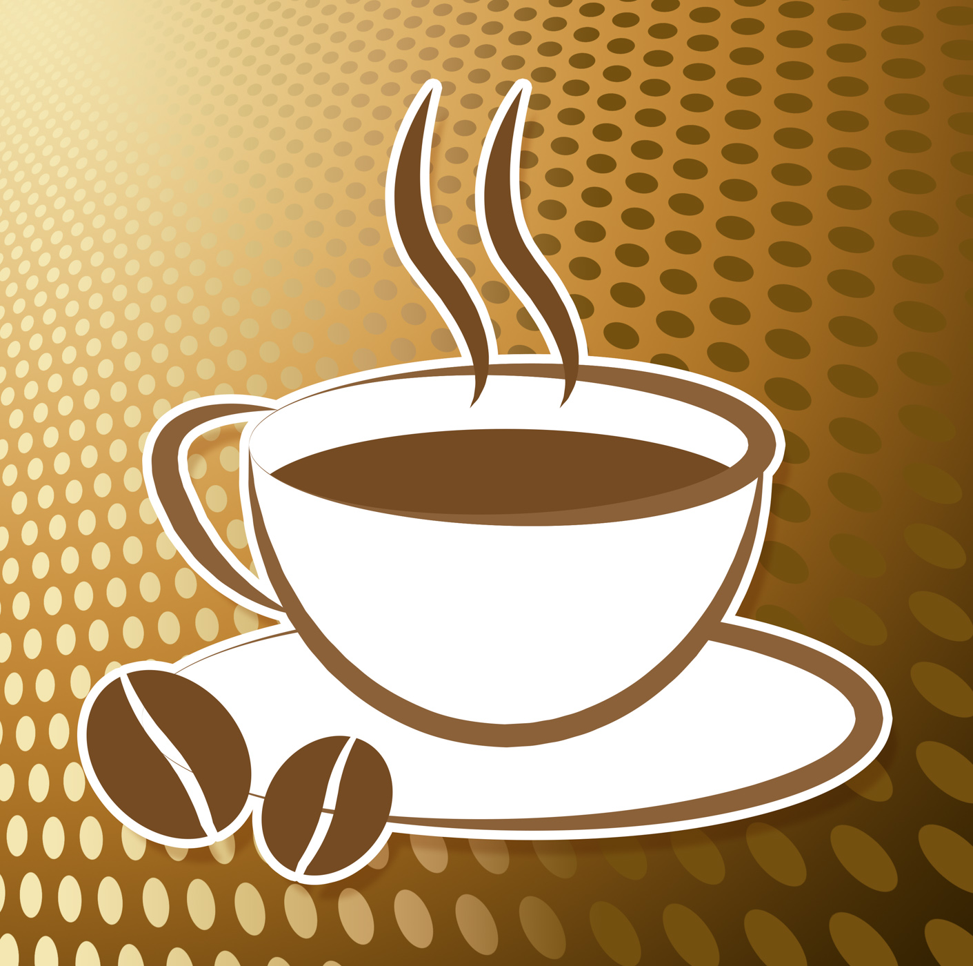 Coffee cup icon indicates drink cups and cafe photo