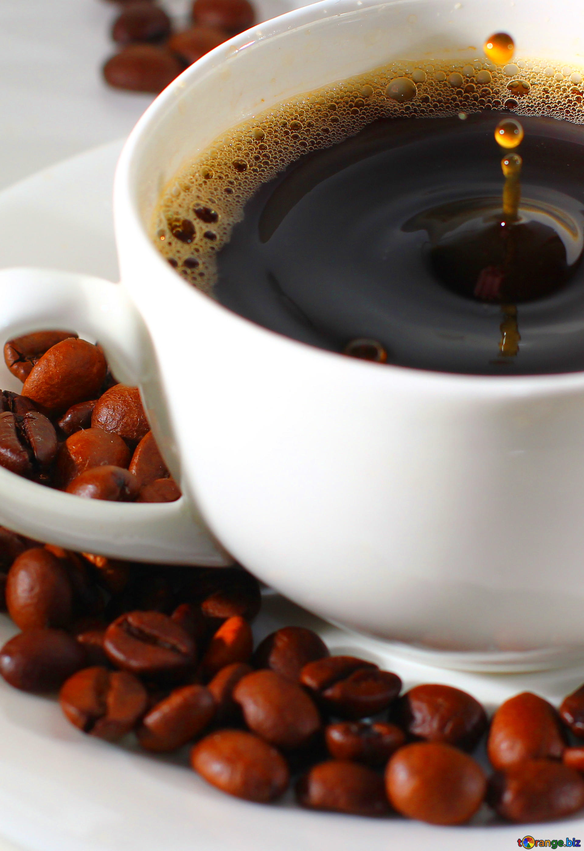 Download free picture coffee drop in cup on CC-BY License ~ Free ...