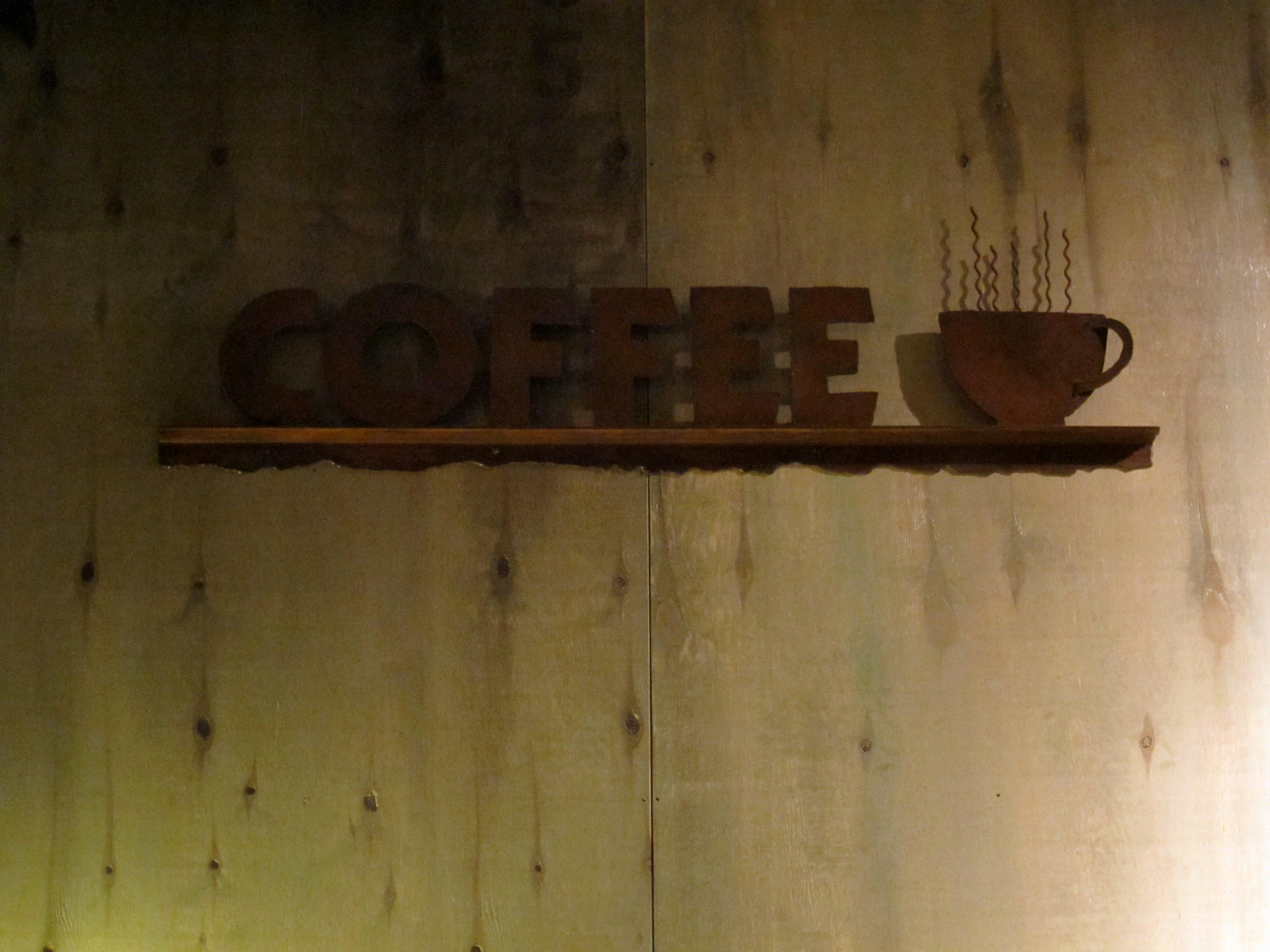 Coffee Sign, Cafe, Coffee, Dark, Dusk, HQ Photo