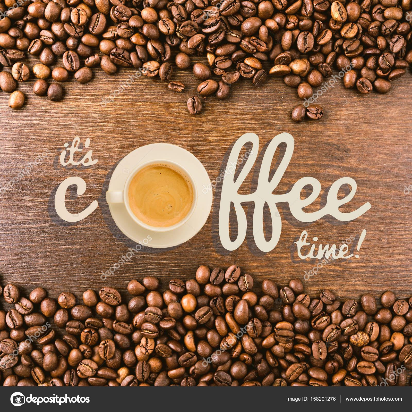 Inscription Its Coffee time — Stock Photo © IgorTishenko #158201276