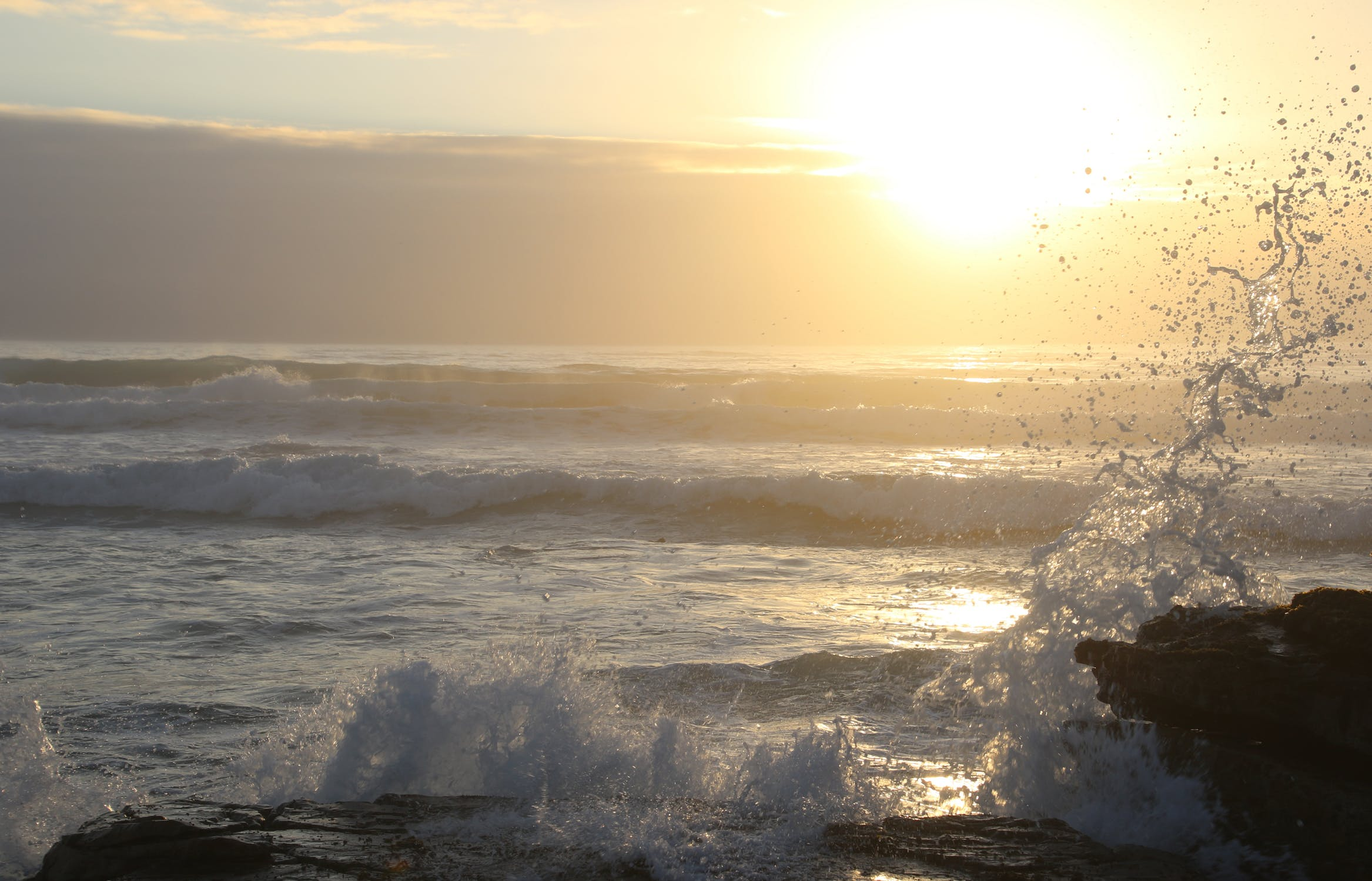 Cold sea splash photo