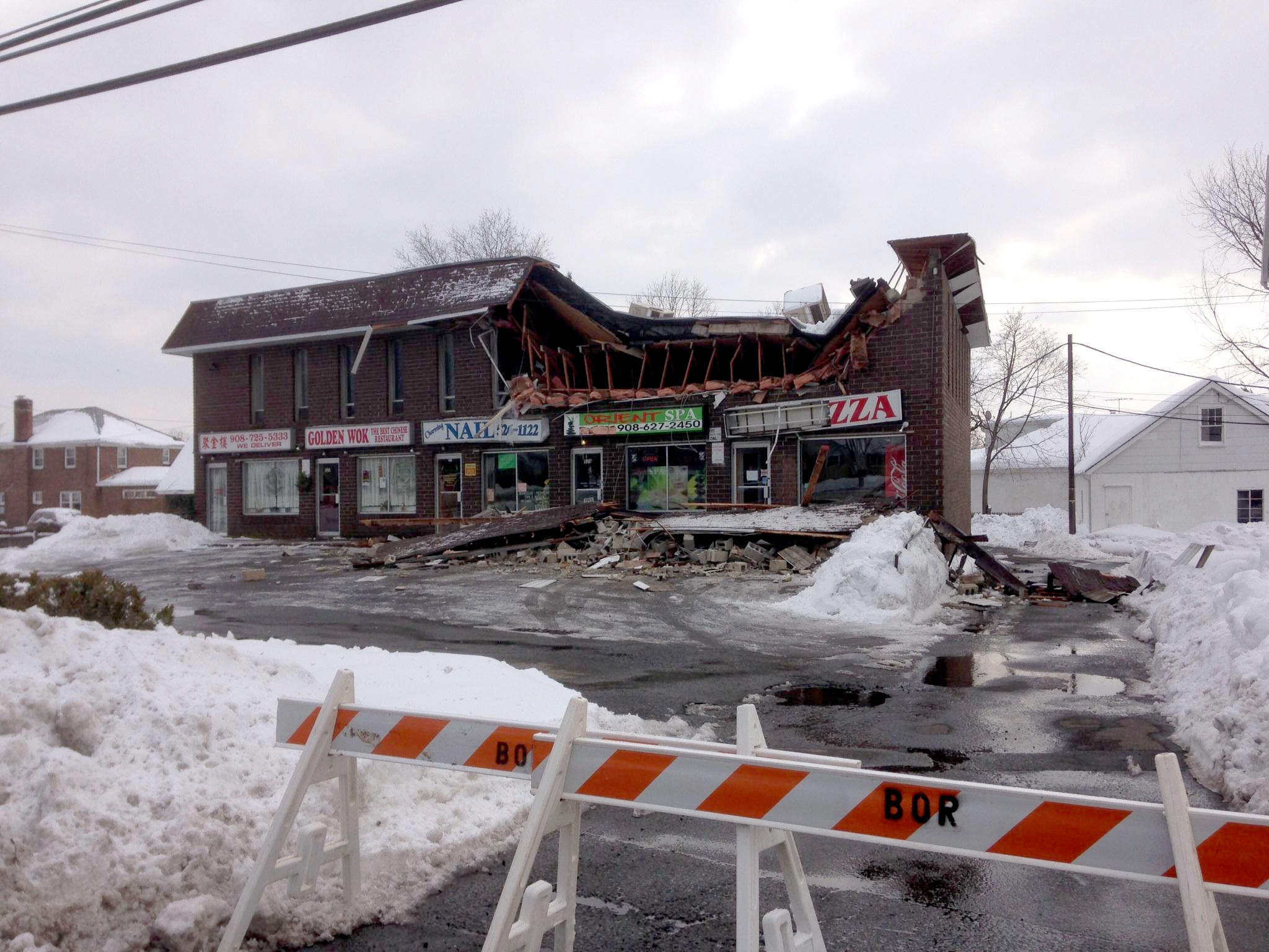 Building on Route 202 to be Demolished After Roof Collapsed 2 Years ...