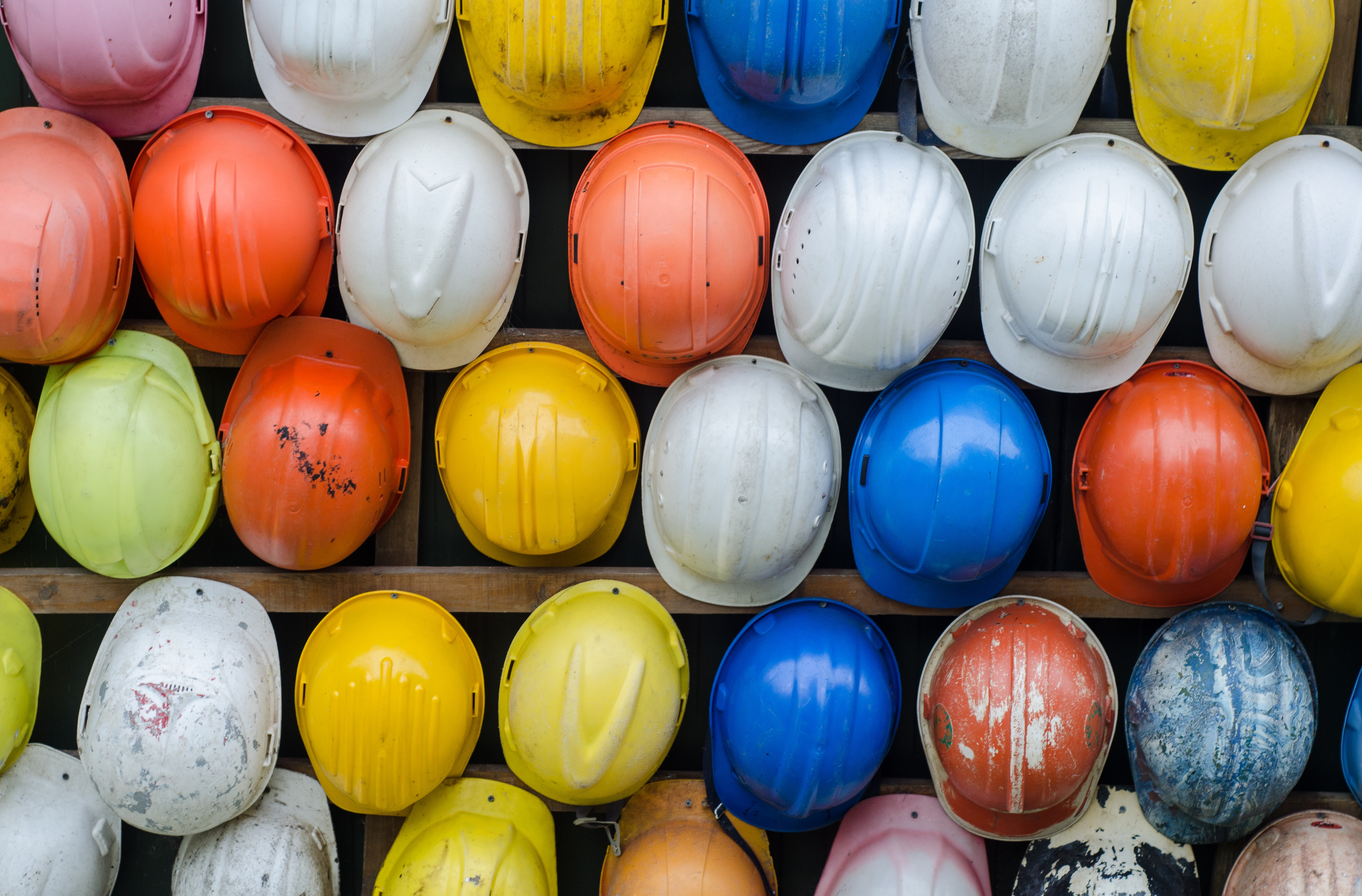 Collection of Construction Safety Helmet, Helmets, Construction, Colourful, Colorful, HQ Photo