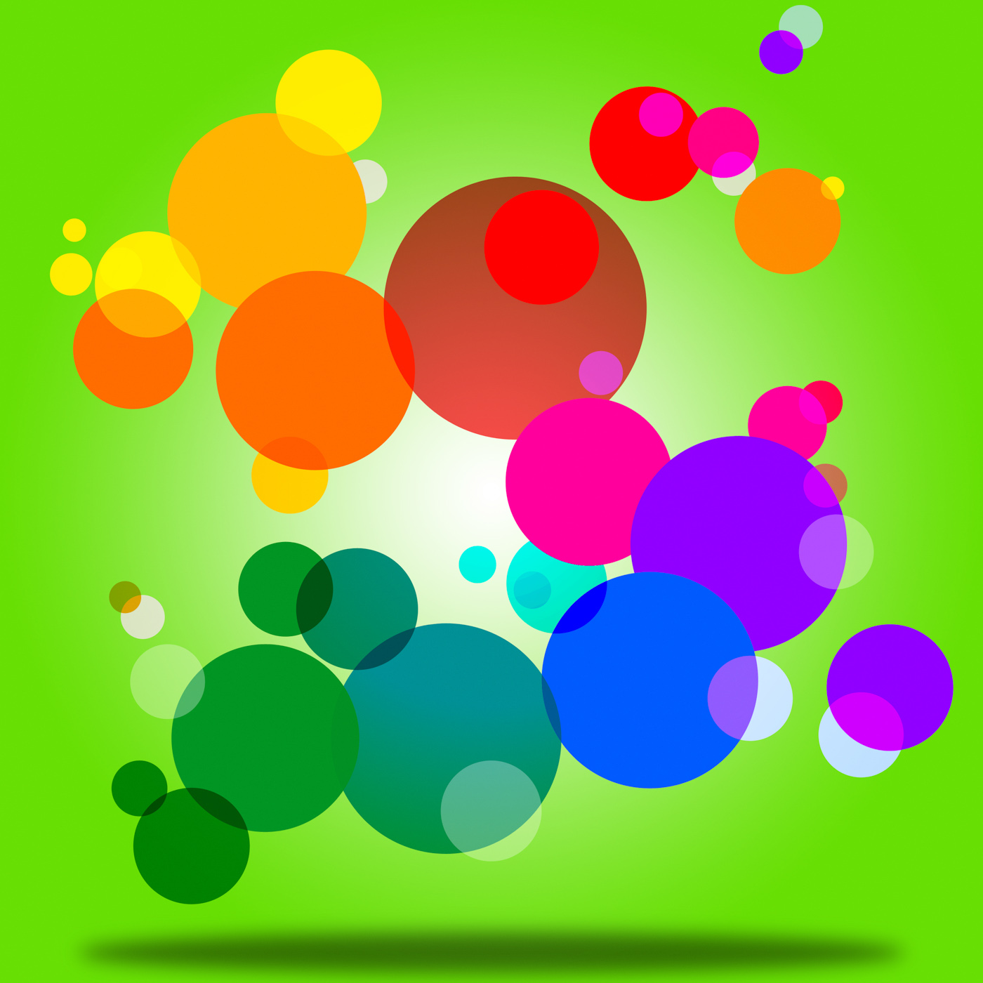 Color background indicates circles bubble and orb photo
