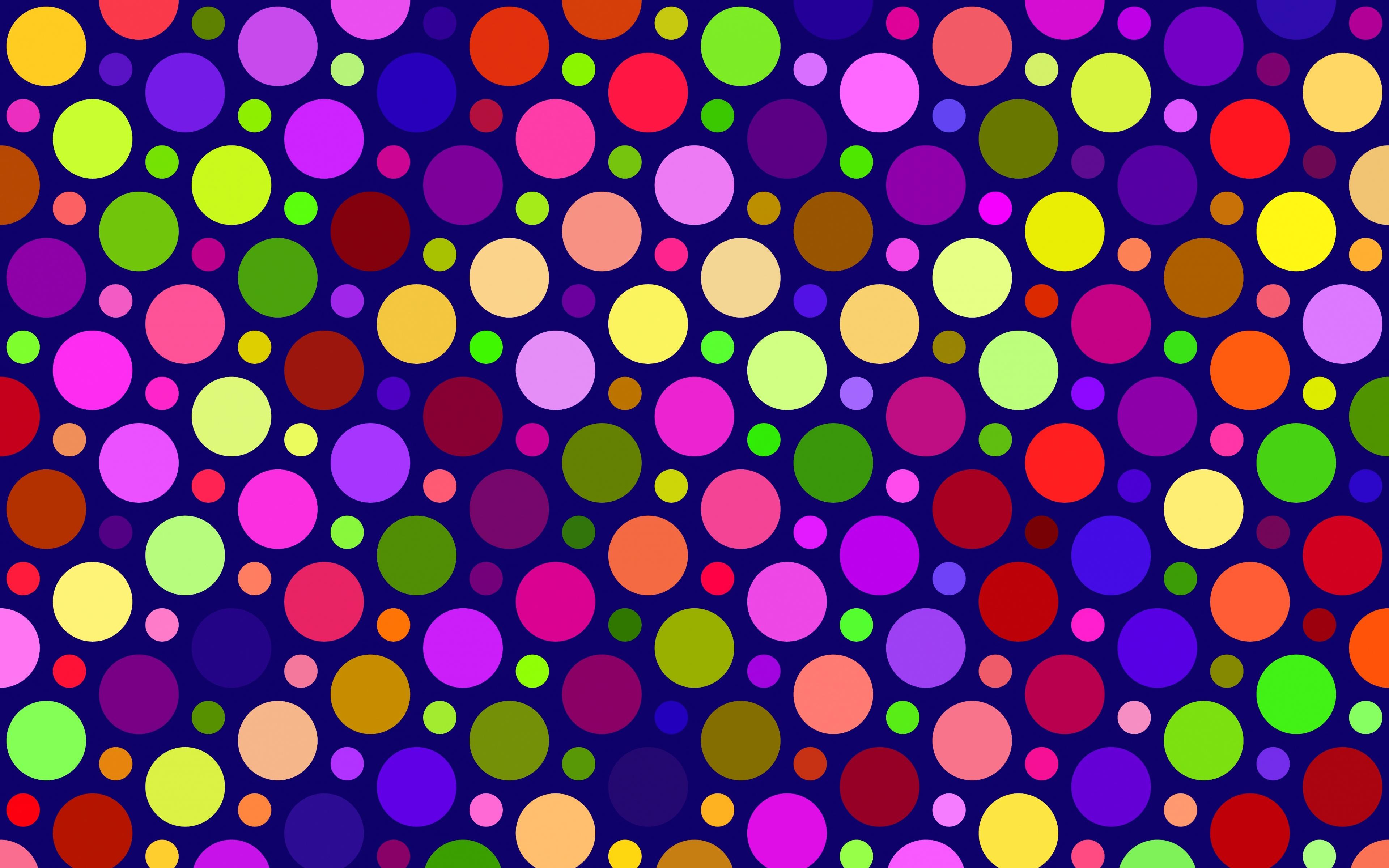 Color Circles Pattern Wallpaper 4K HD Download Of Colorful Circles