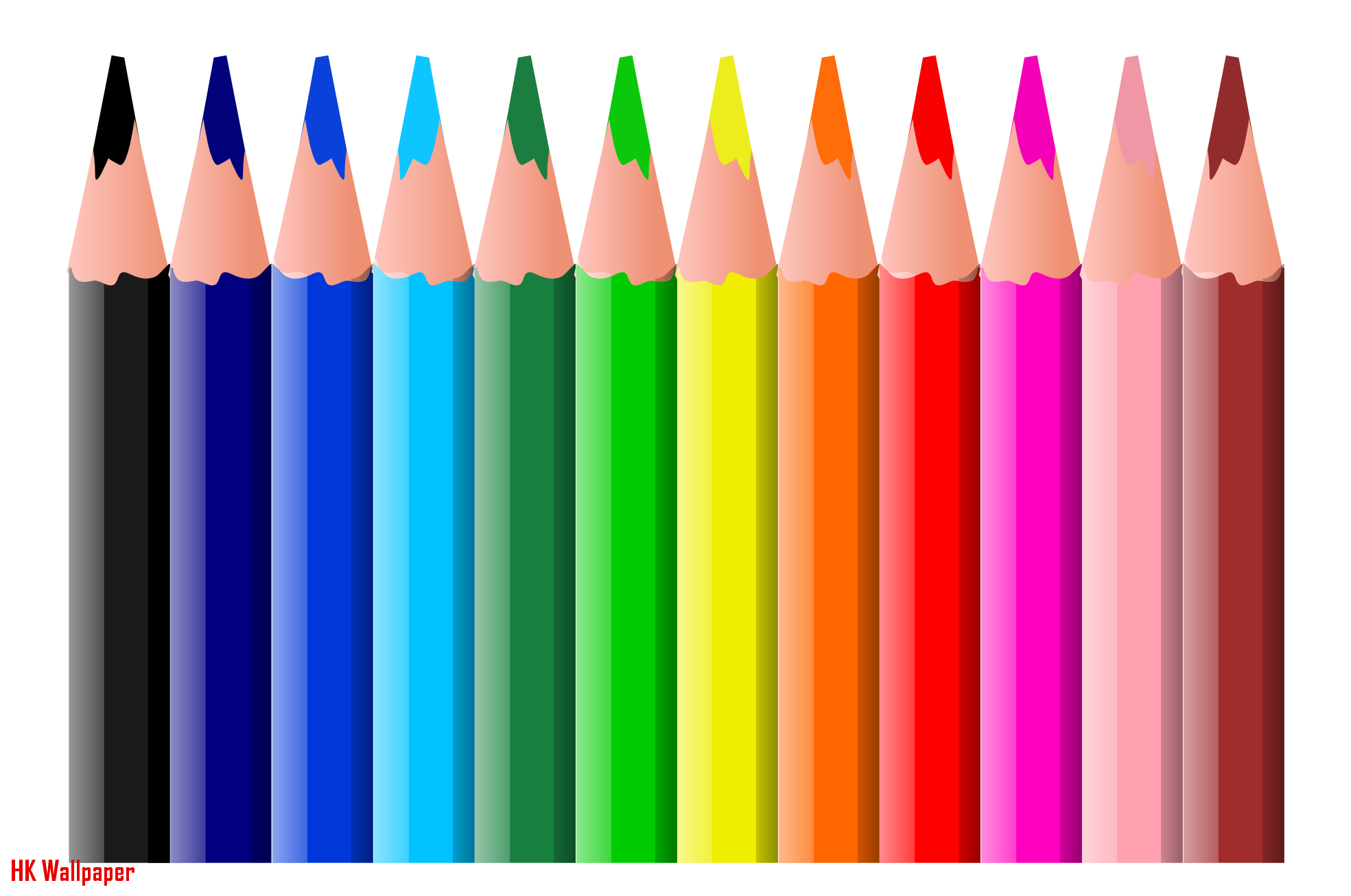 Elegant Color Pencil Crayons | HK Wallpaper