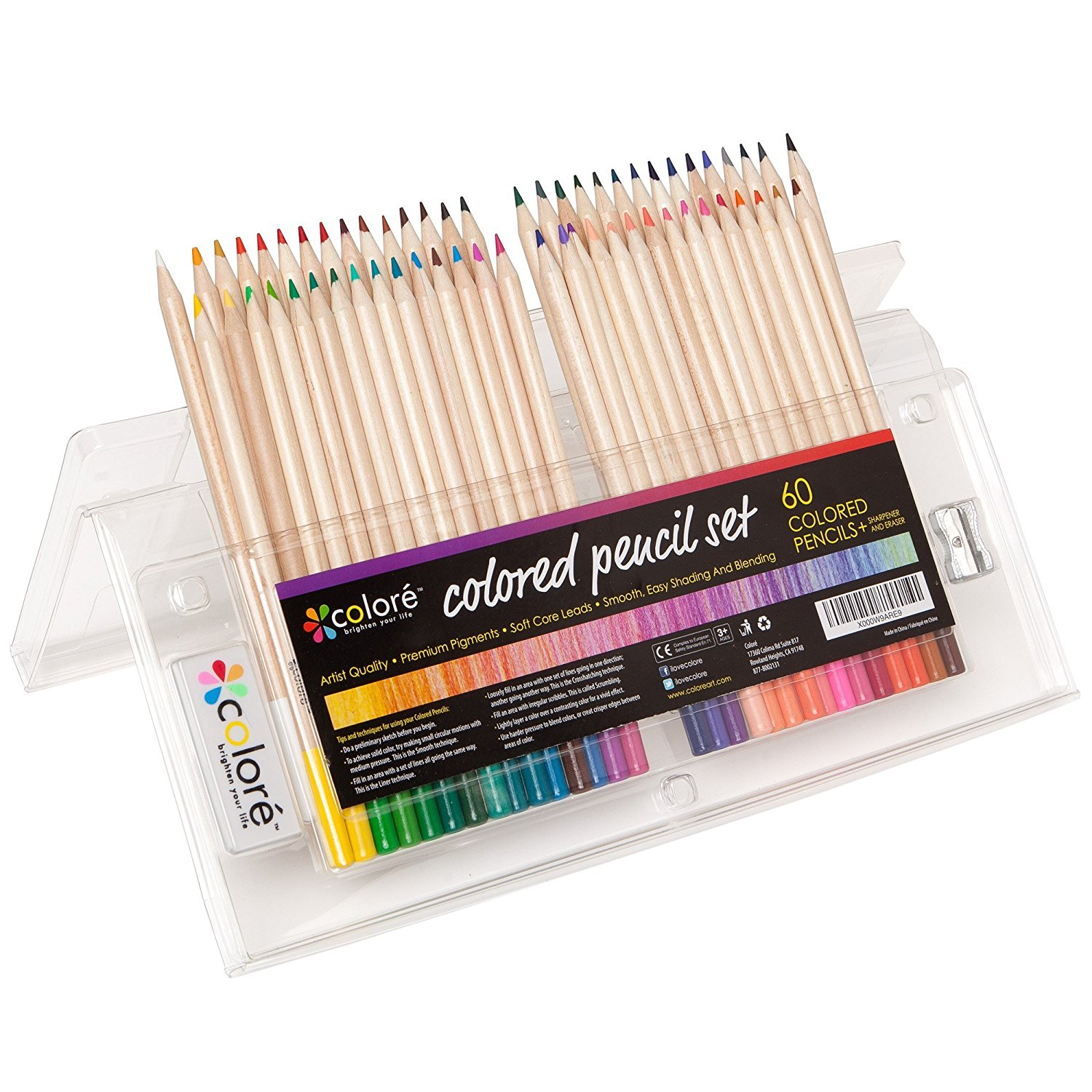 Amazon.com: Colored Pencils Pre-Sharpened Colored Pencil Set with ...